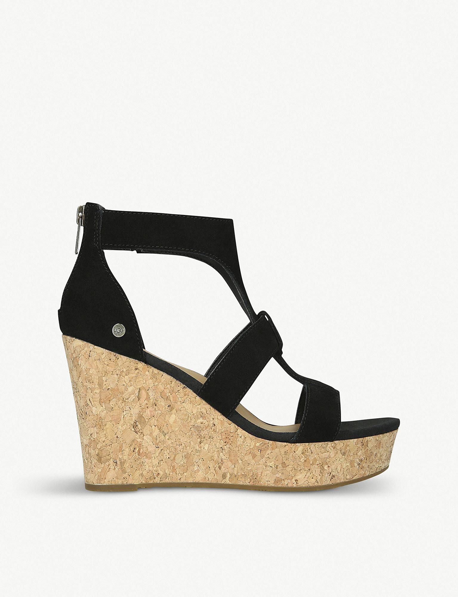 f29fd71fdc8 UGG Whitney (black) Wedge Shoes in Black - Lyst