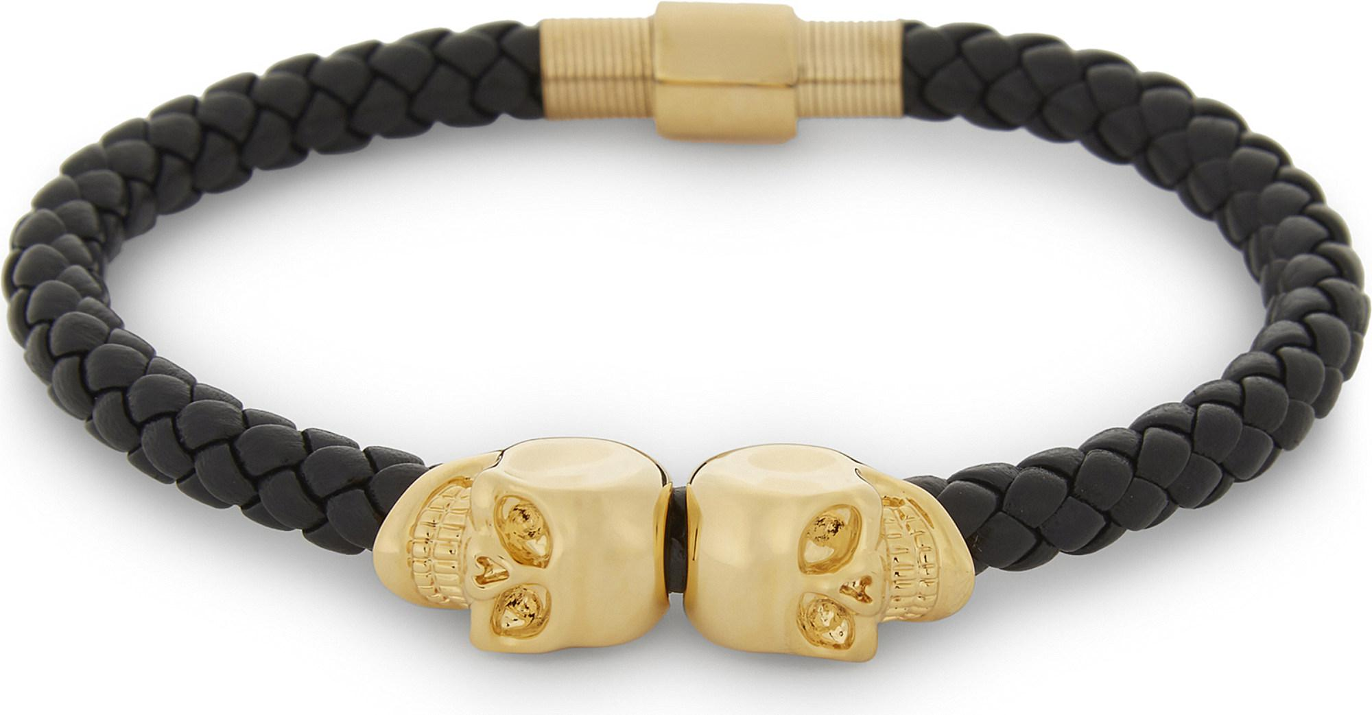 p duo northskull coloured skull north bracelet gold scoubi goldcoloured