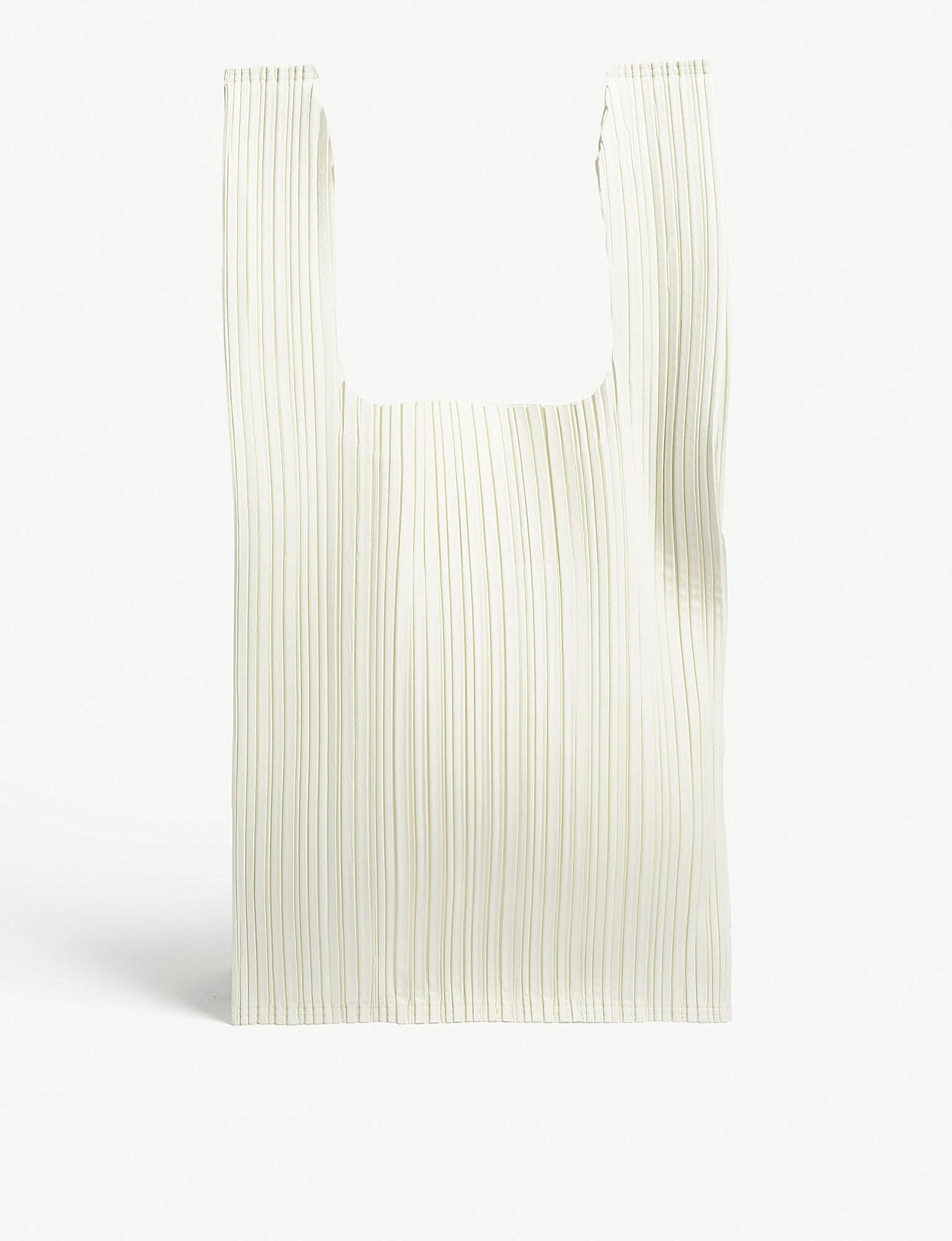 Pleats Please Issey Miyake Pleated Tote in White - Lyst e193694236