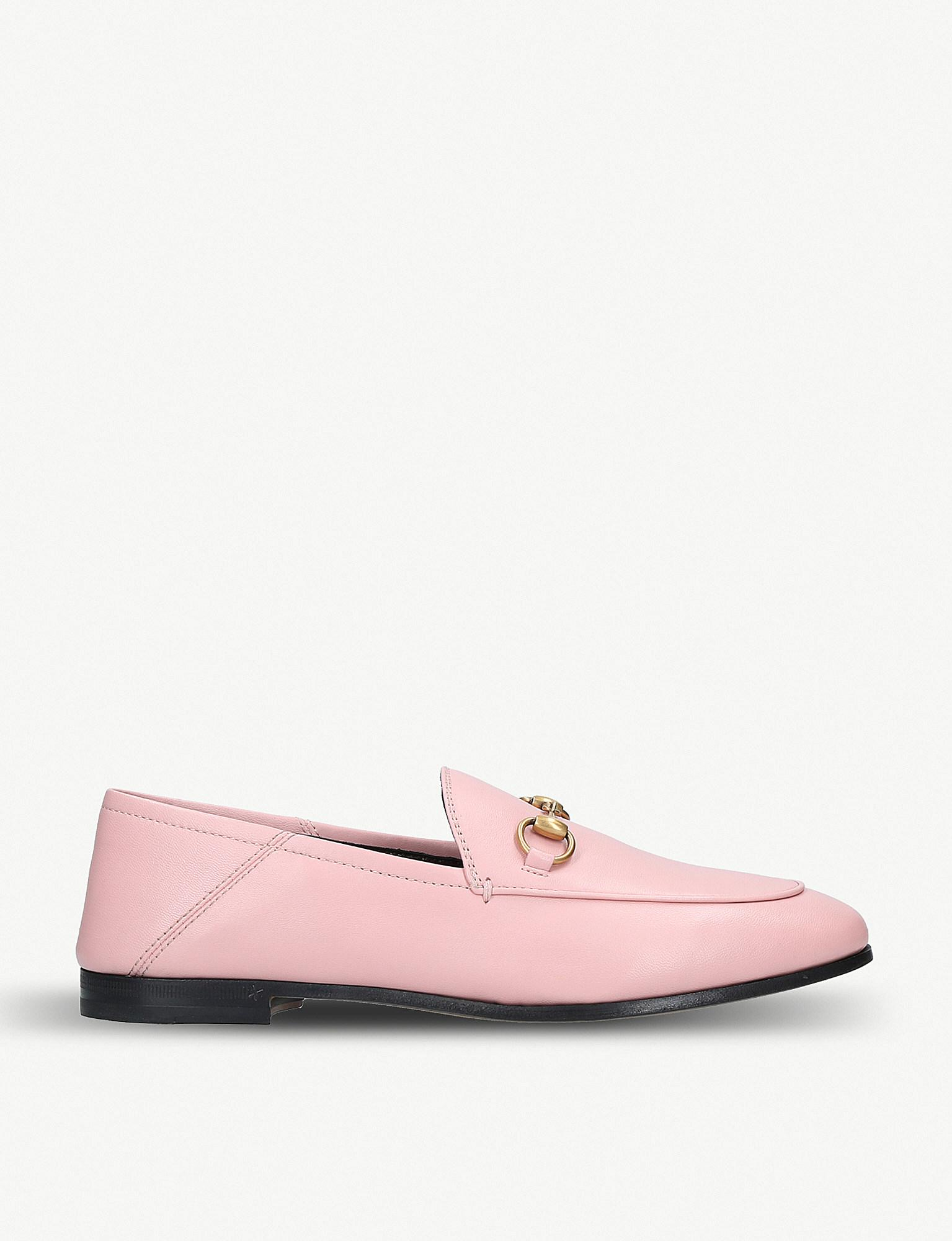 6a618193114 Lyst - Gucci Pink Crushback Brixton Loafers in Pink - Save ...
