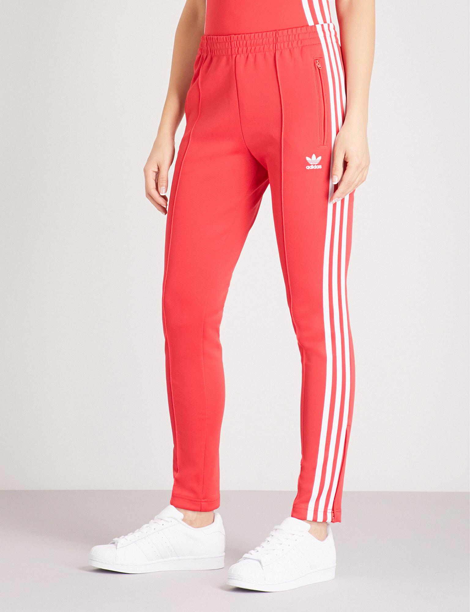 adidas Originals Synthetic Sst Stretch-jersey Jogging Bottoms in ...
