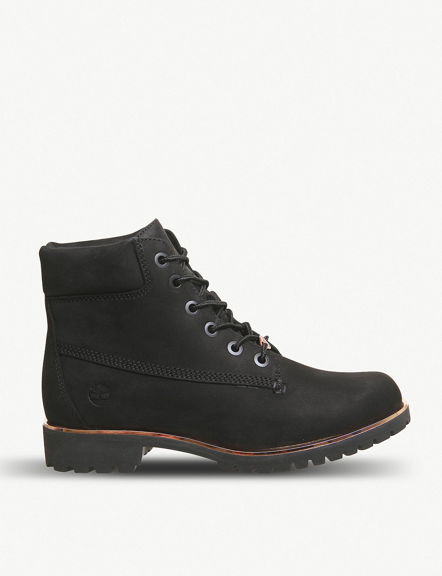 timberland slim premium 6 inch boots black nubuck