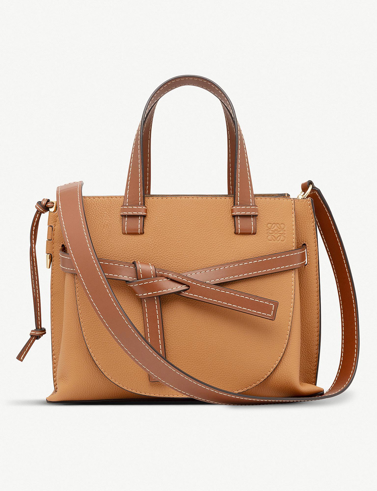 277cbd1c87 Loewe Gate Top-handle Small Leather Tote Bag in Brown - Lyst