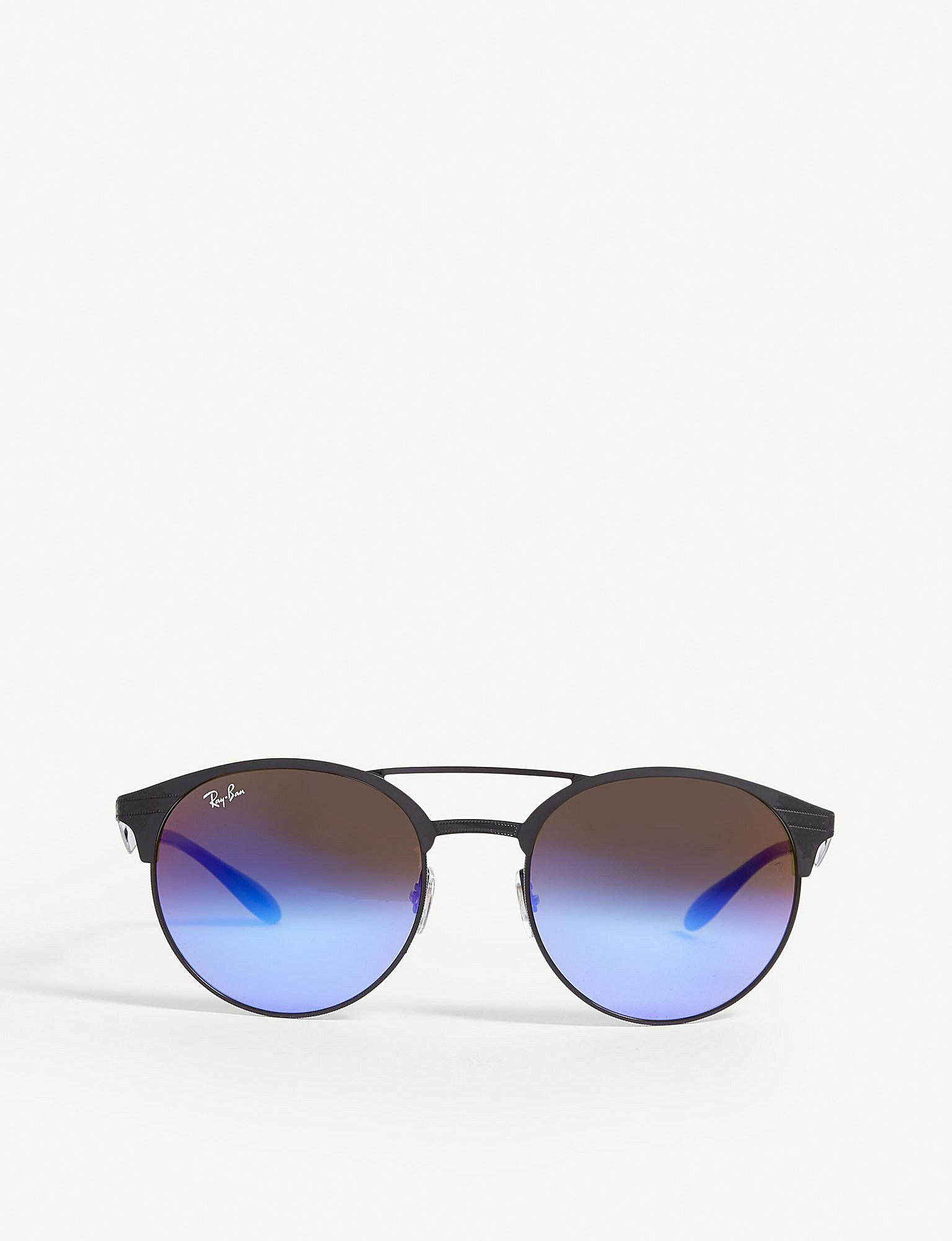 9009223982 Ray-Ban Rb3545 Phantos-frame Sunglasses in Black - Lyst