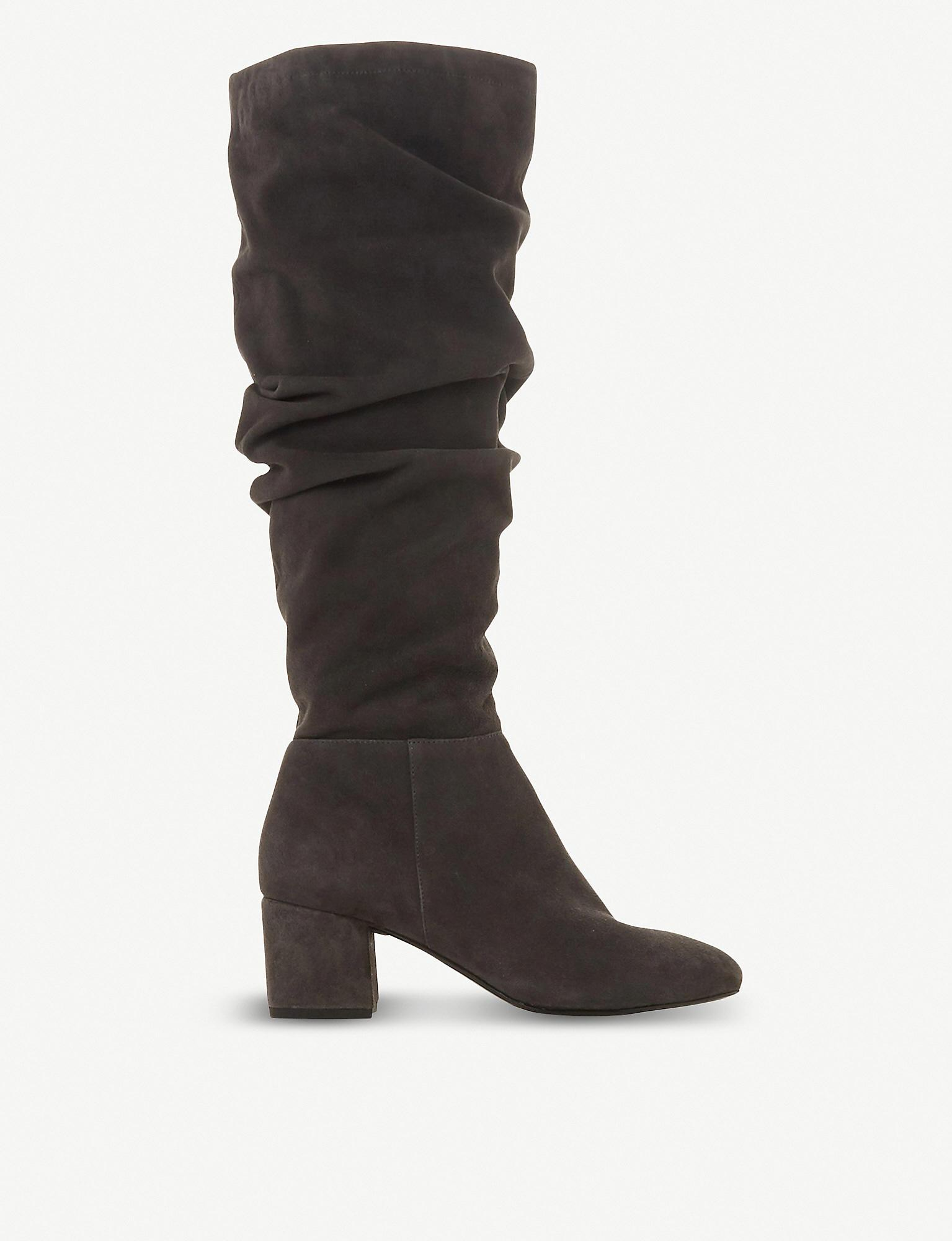 Sarento Ruched Knee-high Leather Boots