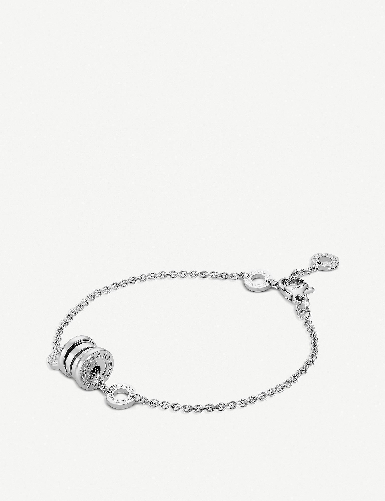 b00d1357c427c Women's Metallic B.zero1 Mini 18ct Rose-gold And Black Ceramic Bracelet