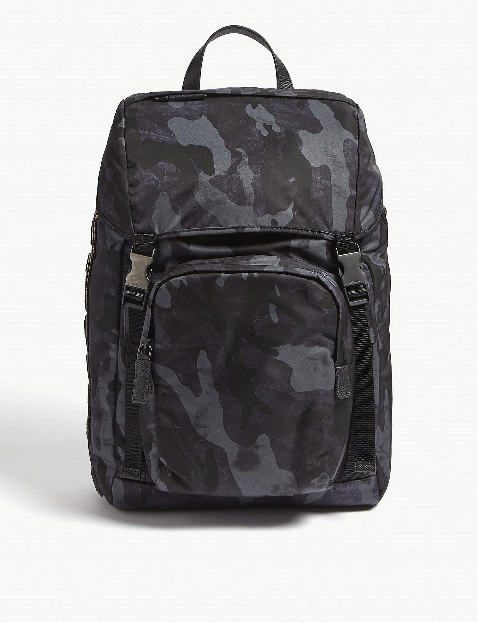 e82ea33efadd2a ... where to buy prada. mens navy blue camouflage backpack 822a4 63ff8 ...