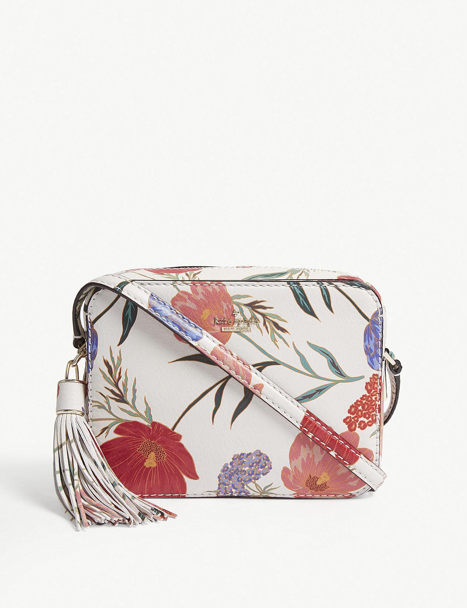 68b86b62bc3c Kate Spade - Multicolor Kingston Drive Arla Floral Leather Cross-body Bag -  Lyst