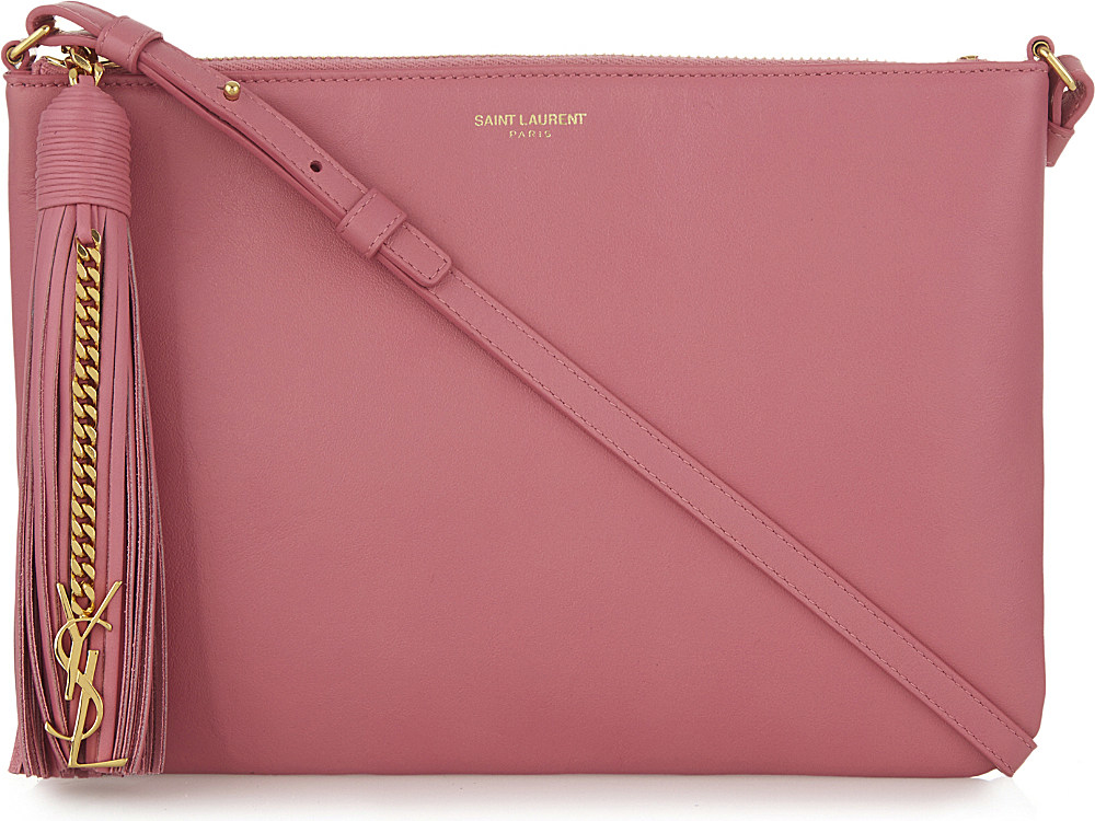eb95feaa9a9 Saint Laurent Teen Leather Cross-body Bag in Pink - Lyst