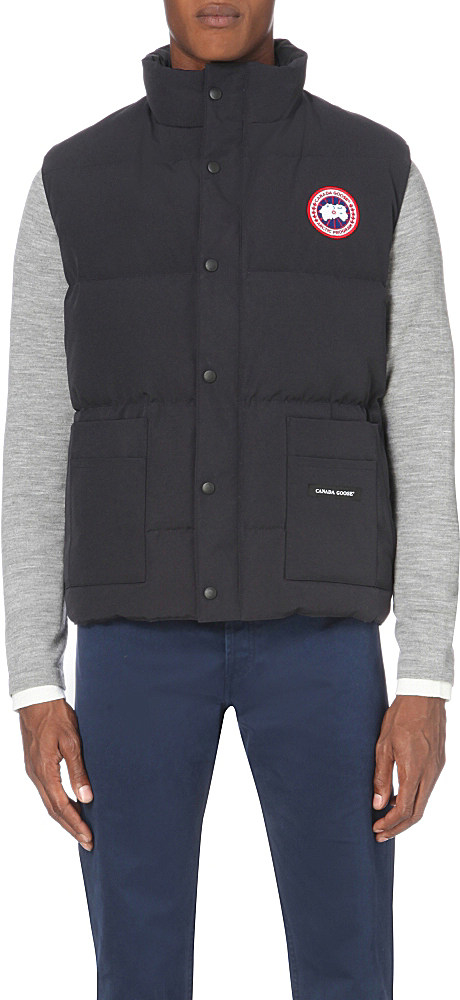 Lyst Canada Goose Freestyle Quilted Shell Gilet In Blue