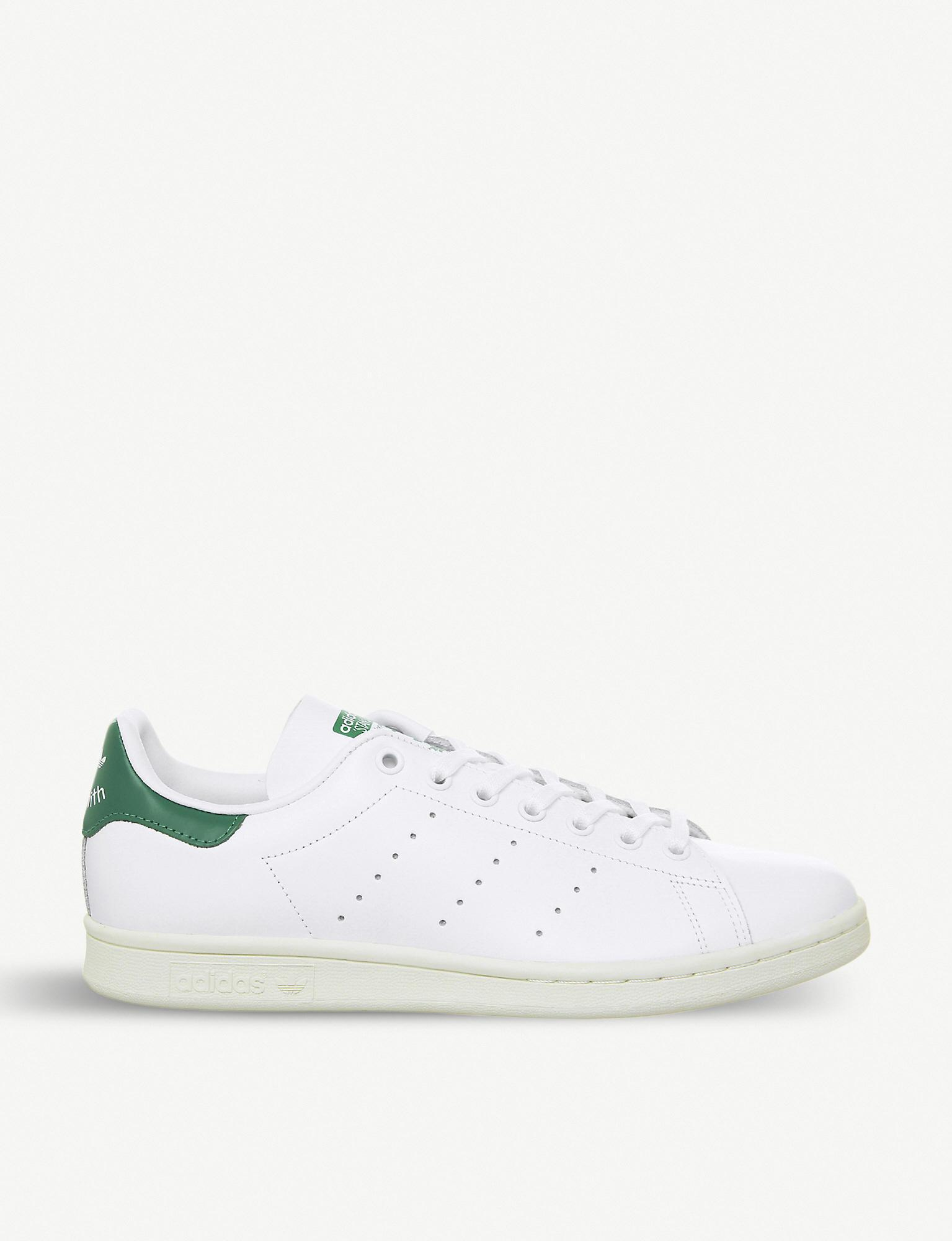 83d30c4bc4ab adidas Stan Smith Leather Trainers in White for Men - Save 50% - Lyst
