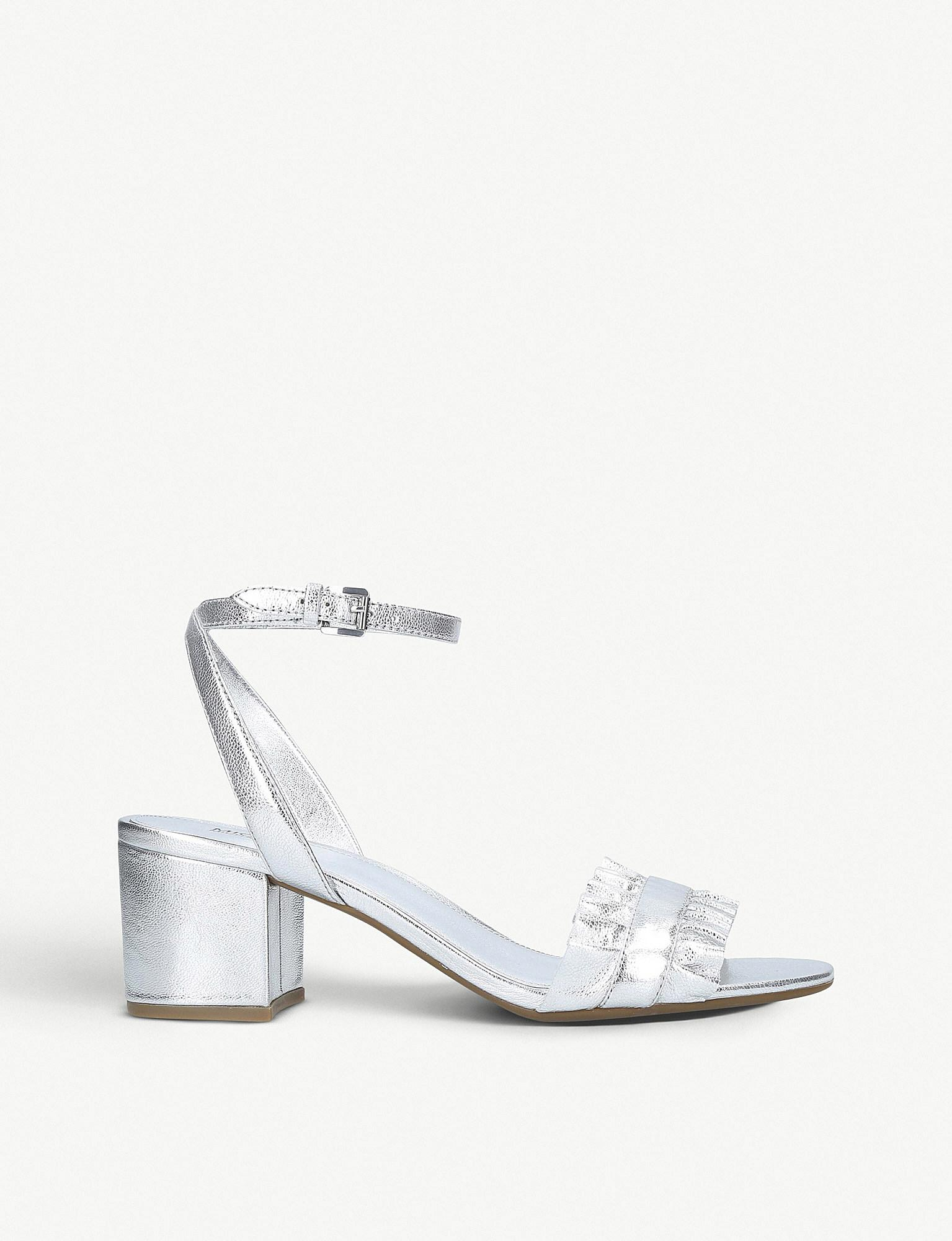 c8df3e150b7 Lyst - MICHAEL Michael Kors Bella Flex Leather Block-heel Sandals in ...