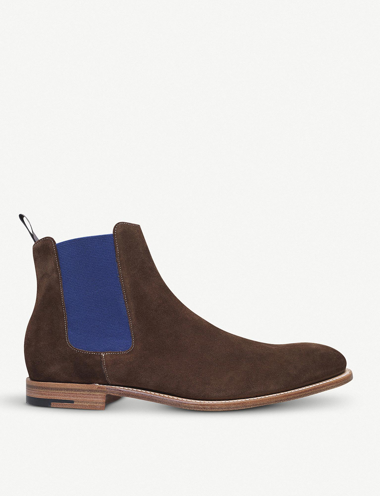 cacc668d717 Lyst - Barker Hopper Suede Chelsea Boots in Brown for Men