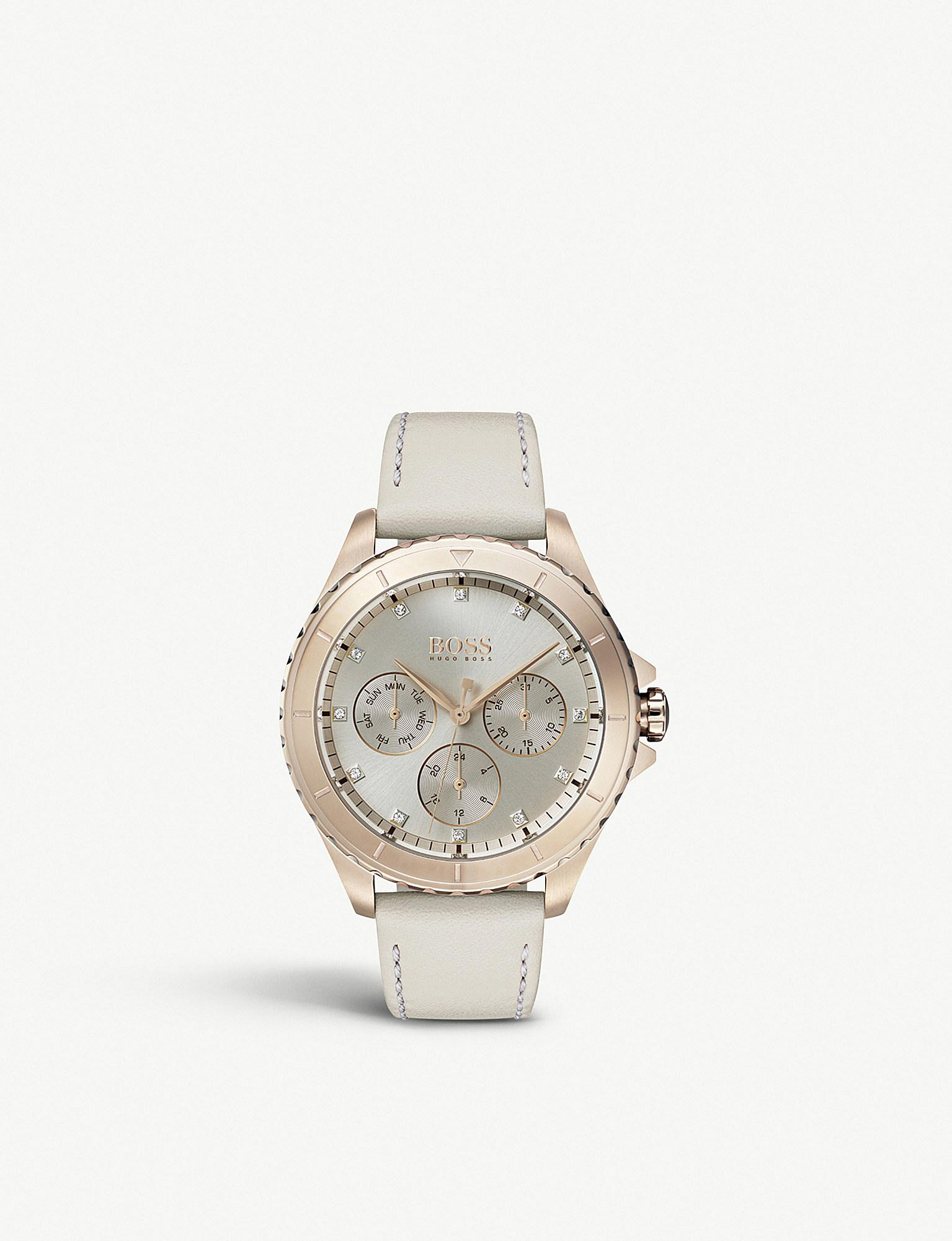 646bace4da3 BOSS 1502447 Premiere Rose Gold-plated And Leather Watch in Metallic ...