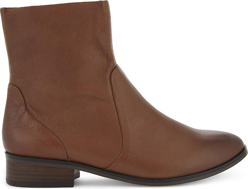 aldo elia leather boots in brown lyst