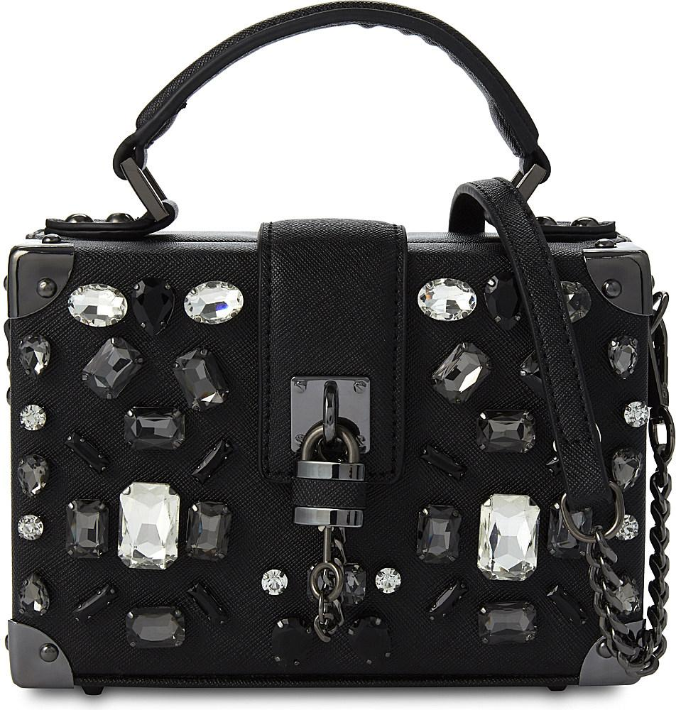 Black And White Box Tops Wiring Diagrams Ring Modulator Circuit Electricalequipmentcircuit Aldo Valbiano Faux Leather Cross Body Bag In Lyst Testing