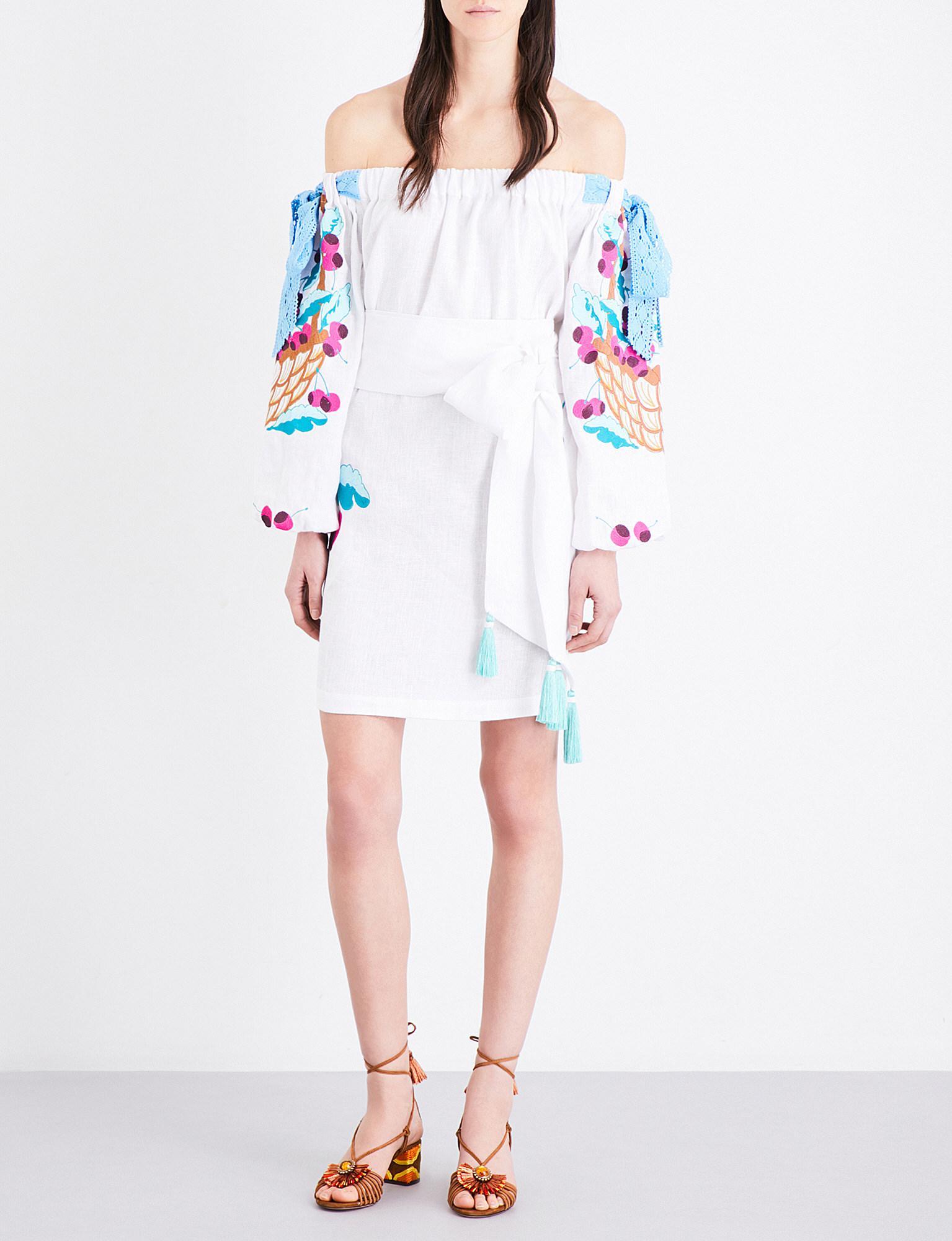 Embroidered mini dress Yuliya Magdych fh5kJ1