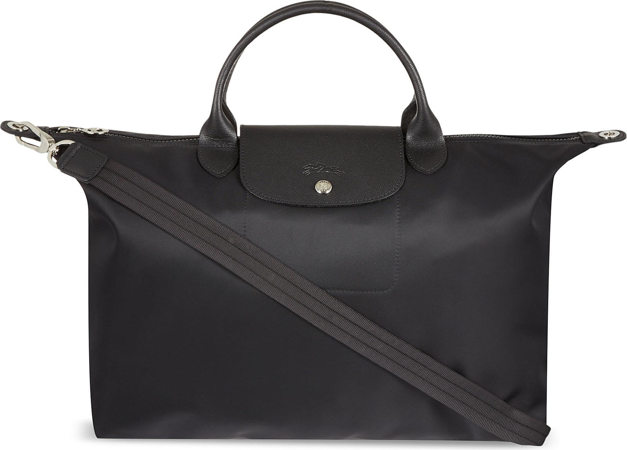 92f71f32cf45d Longchamp Le Pliage Neo Large Handbag in Black - Save 27% - Lyst