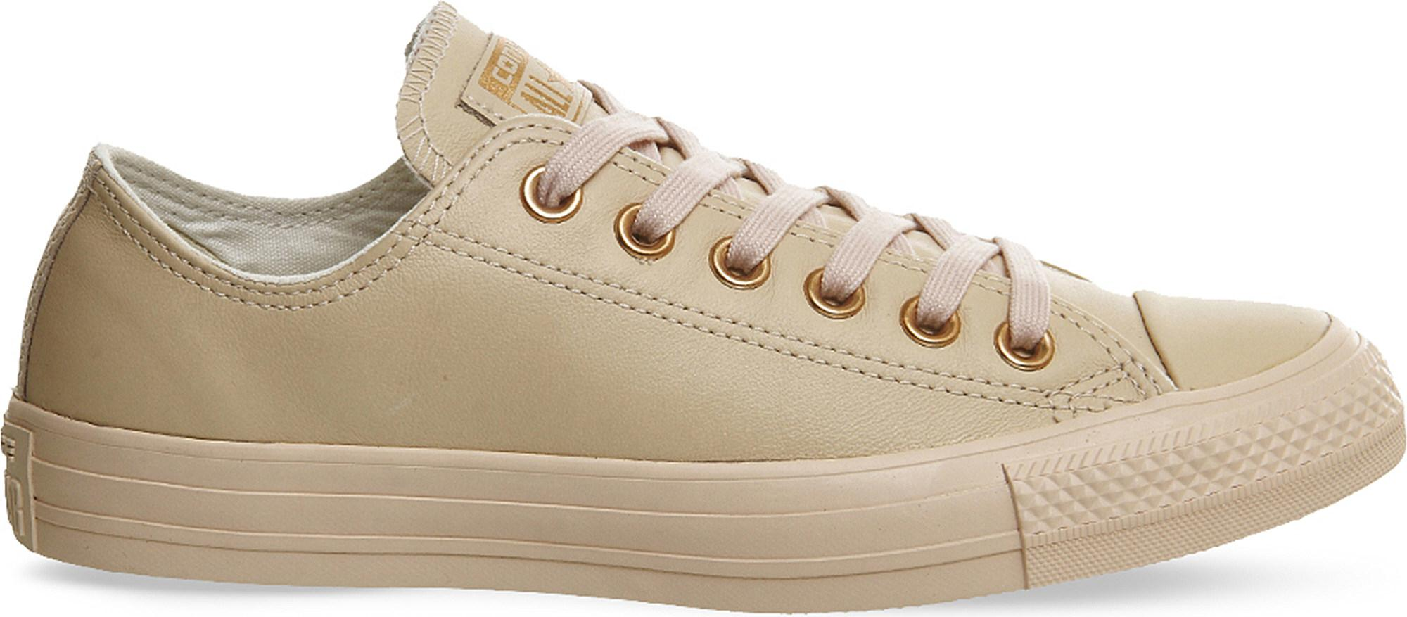 fc10de3b40bf ... norway lyst converse all star low top leather trainers in natural for  men b9877 e4cd8