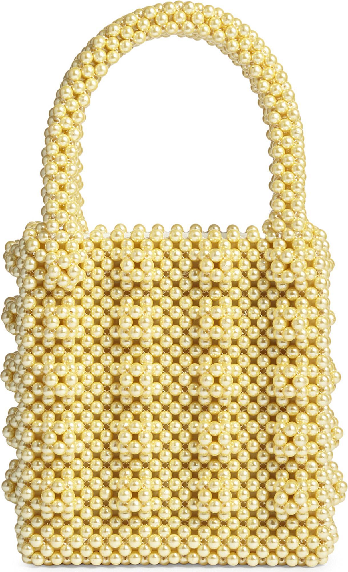 117ac4746 Shrimps Antonia Beaded Bag in Yellow - Lyst