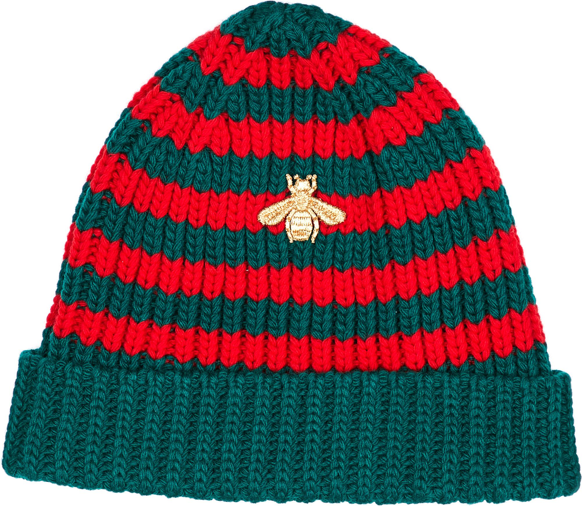 0104fd84 Gucci Bee-embroidered Knit Beanie