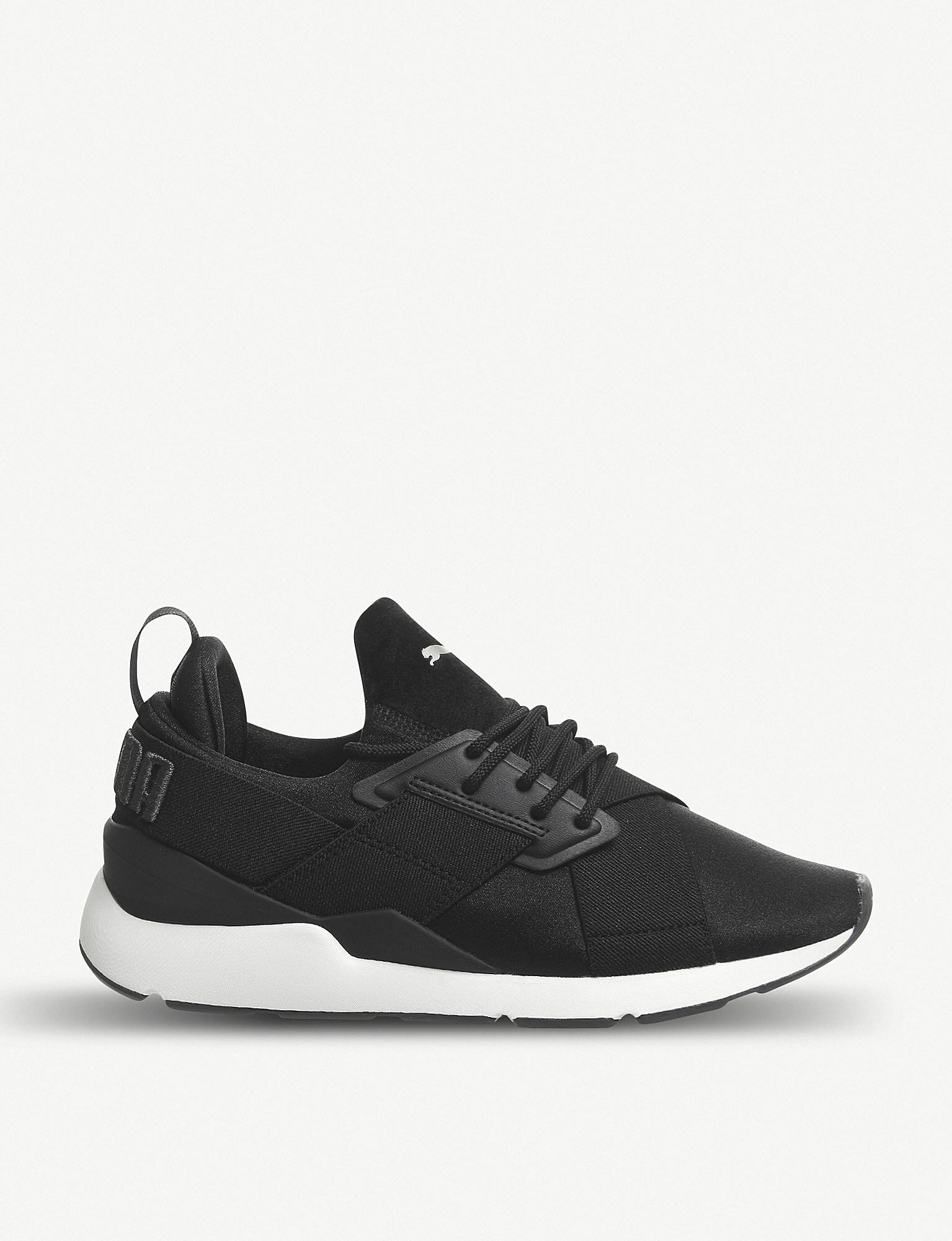 1c906855de6122 Lyst - PUMA Muse X-trap Satin Trainers in Black for Men - Save 15%