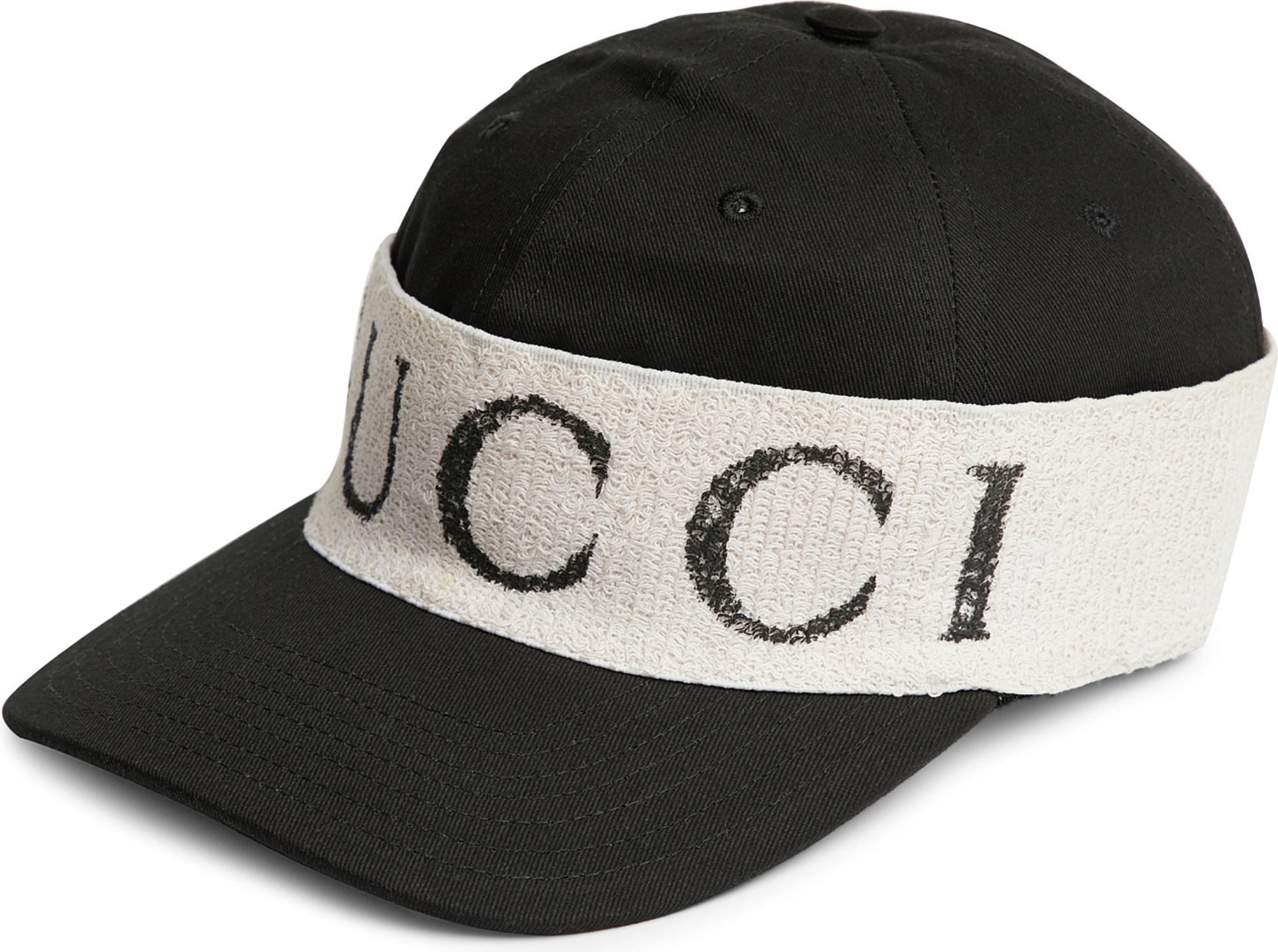 908817bf0214 Lyst - Gucci Headband-detail Gabardine Baseball Cap in Black for Men