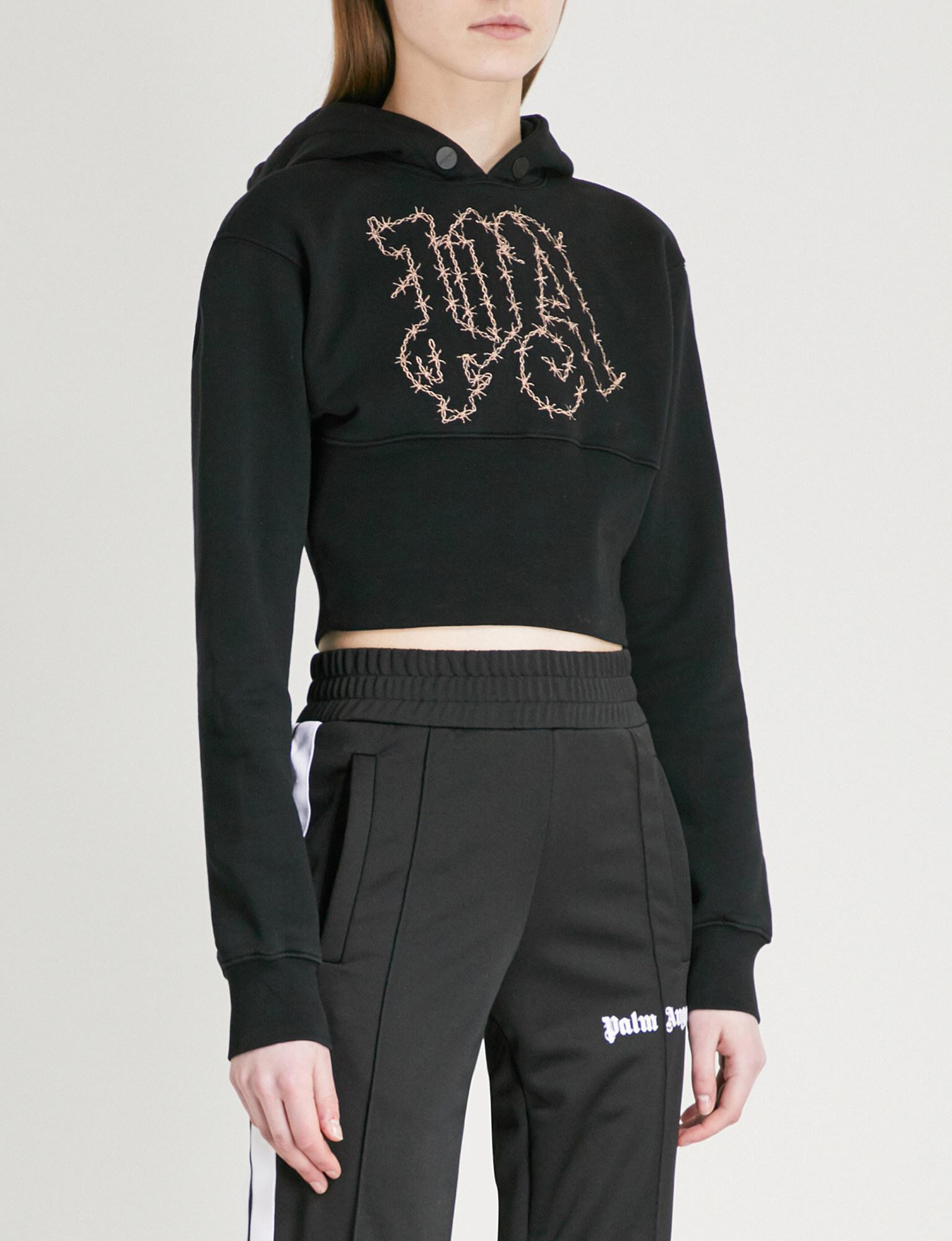 421e4a49e5429 palm-angels-Black-copper-Barbwire-Cropped-Cotton-jersey-Hoody.jpeg