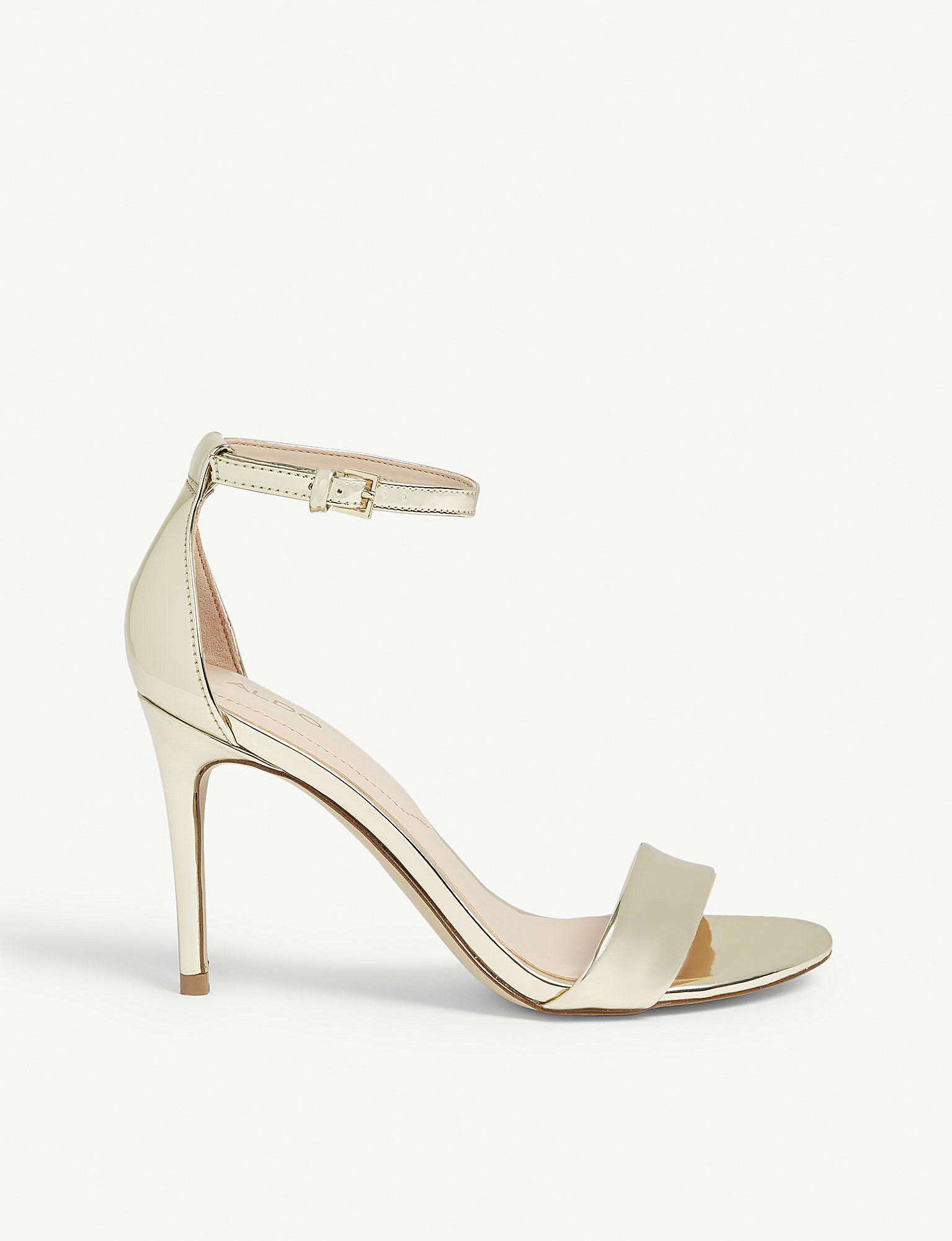 e5ebeeecb64 Lyst - ALDO Cally Patent Sandals in Metallic