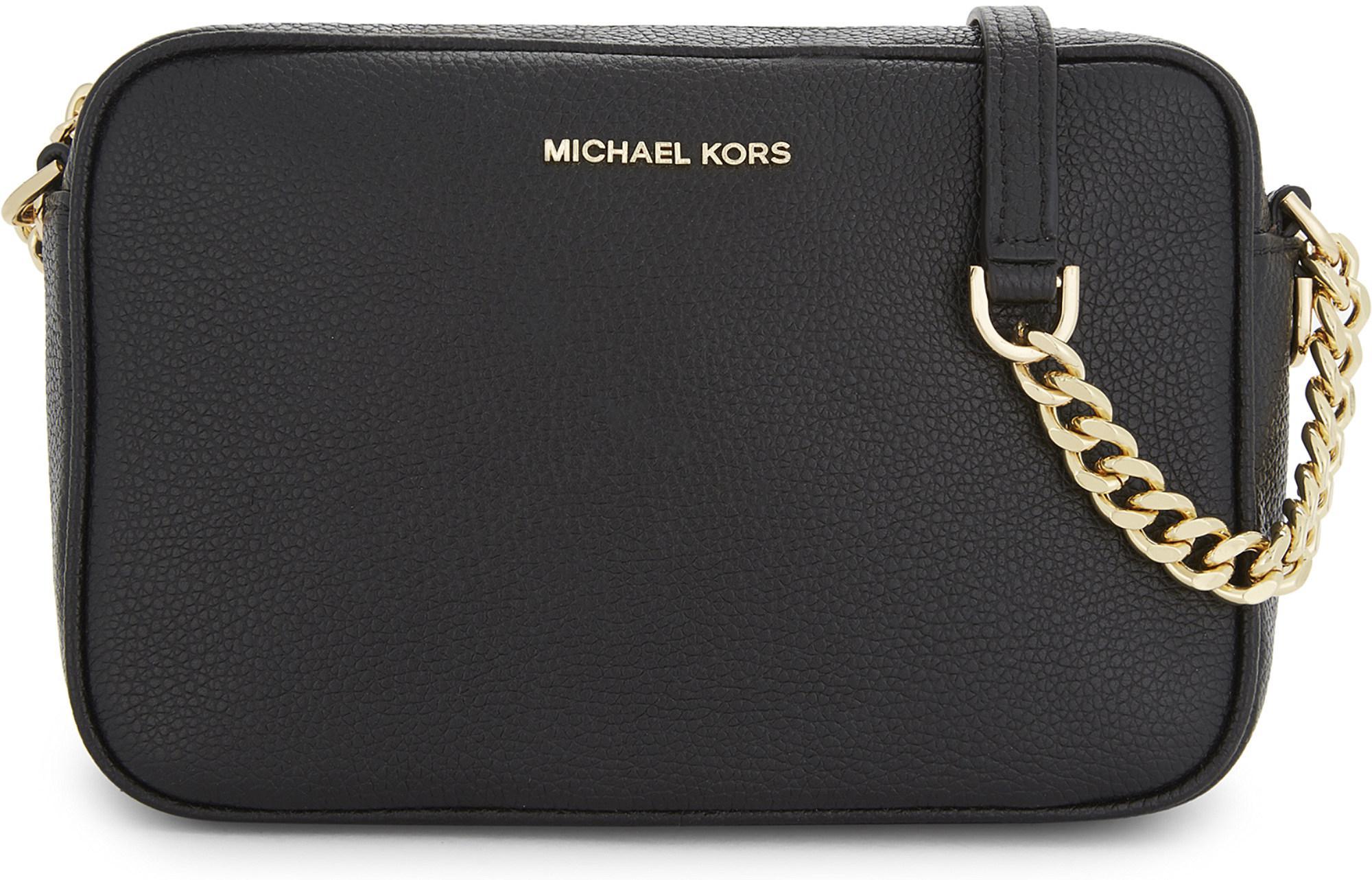 aa9f5036ad6f MICHAEL Michael Kors - Michael Kors Ladies Black Grained Modern Ginny  Leather Cross-body Bag