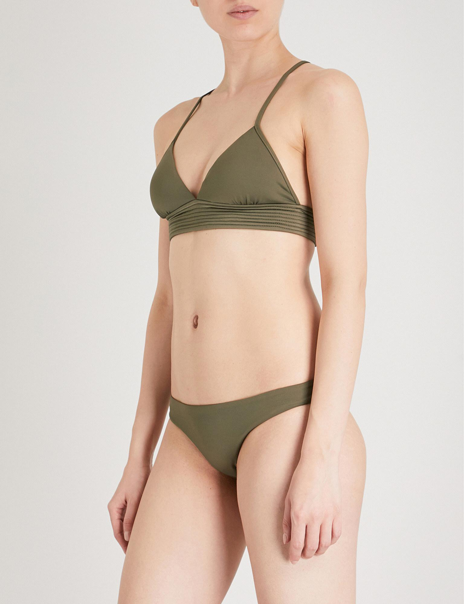 6d112c534c Lyst - Seafolly Quilted Triangle Bikini Top in Green