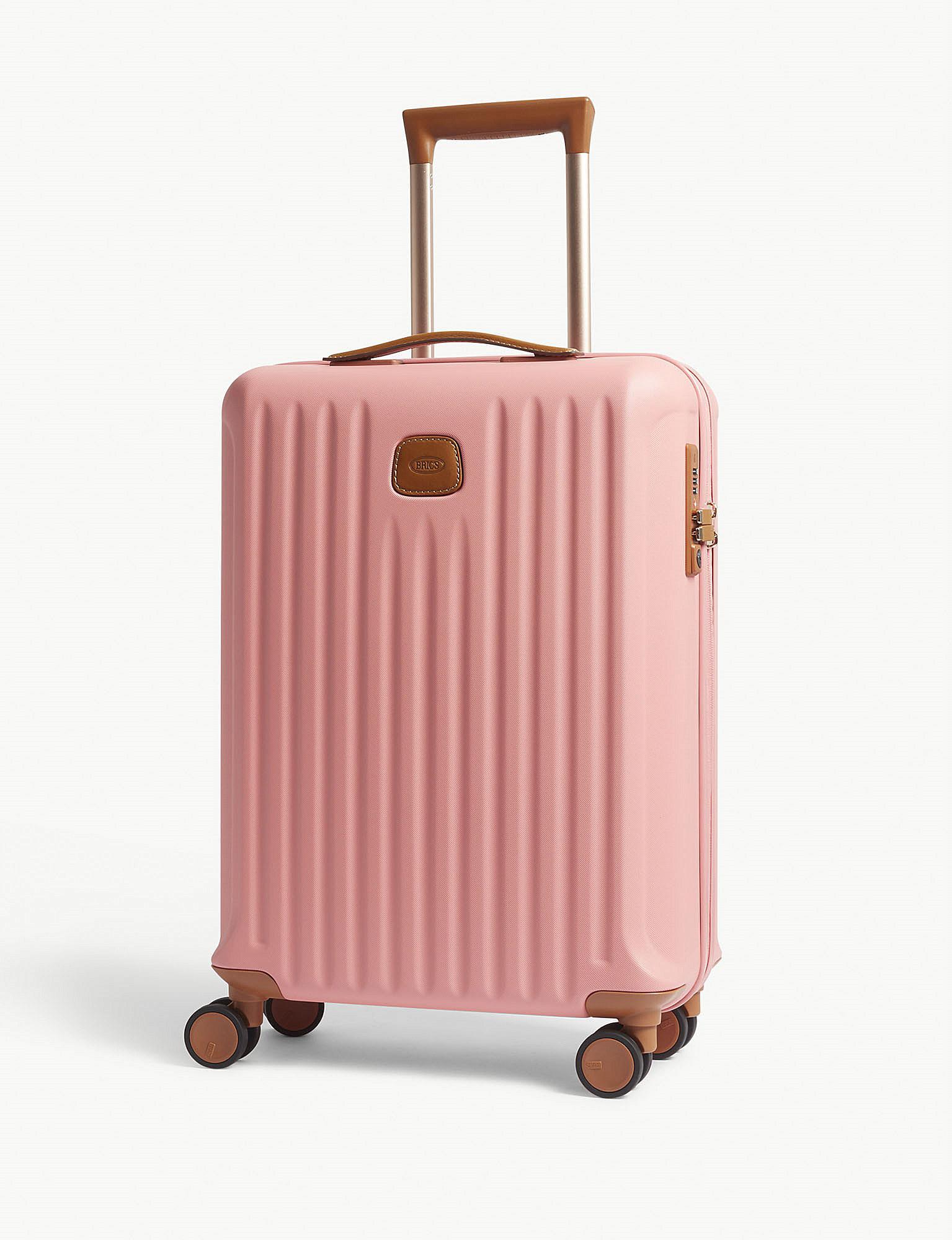 Bric's Leather Capri Four-wheel Cabin Suitcase 55cm in Pink - Lyst