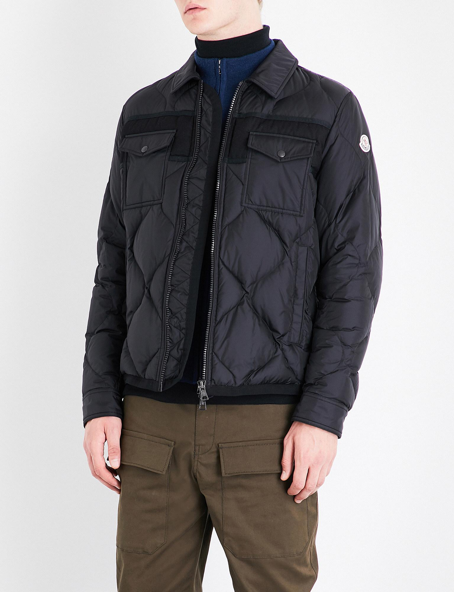 5028e3d3b Moncler Black Stephan Quilted Shell Jacket for men