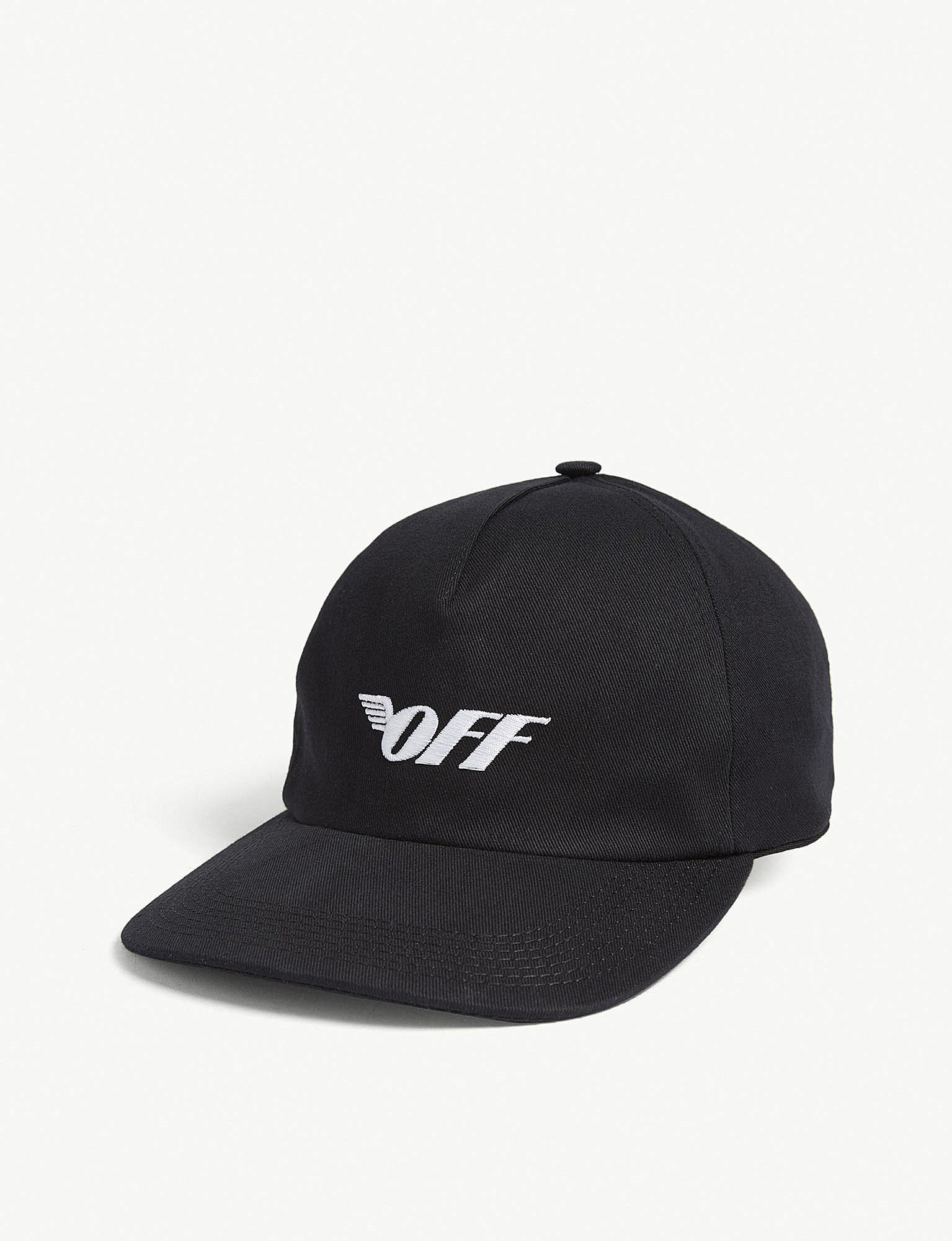 64f931a1d19 Off-White c o Virgil Abloh. Women s Black Wings Logo Cotton Baseball Cap