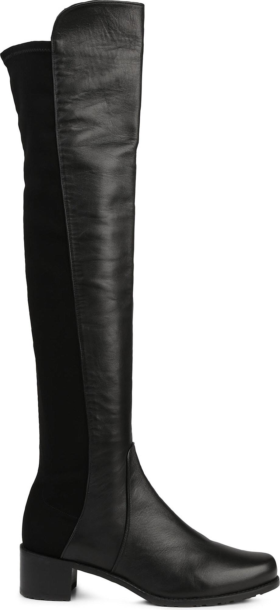 2e7c7962b67 Lyst - Stuart Weitzman The Reserve Boot in Black - Save 62%