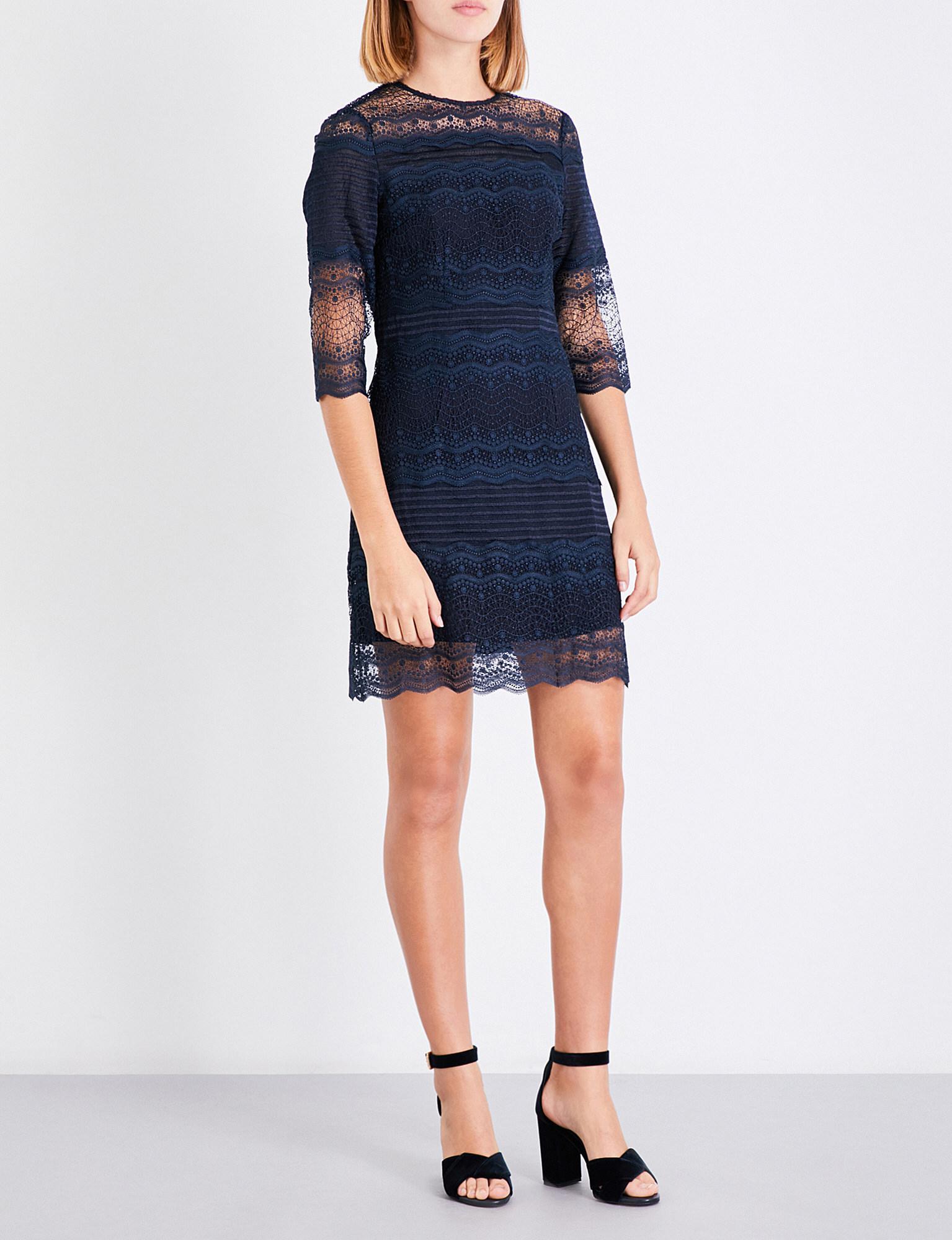fe123d7fde Lyst - Maje Rizzie Lace Dress in Blue