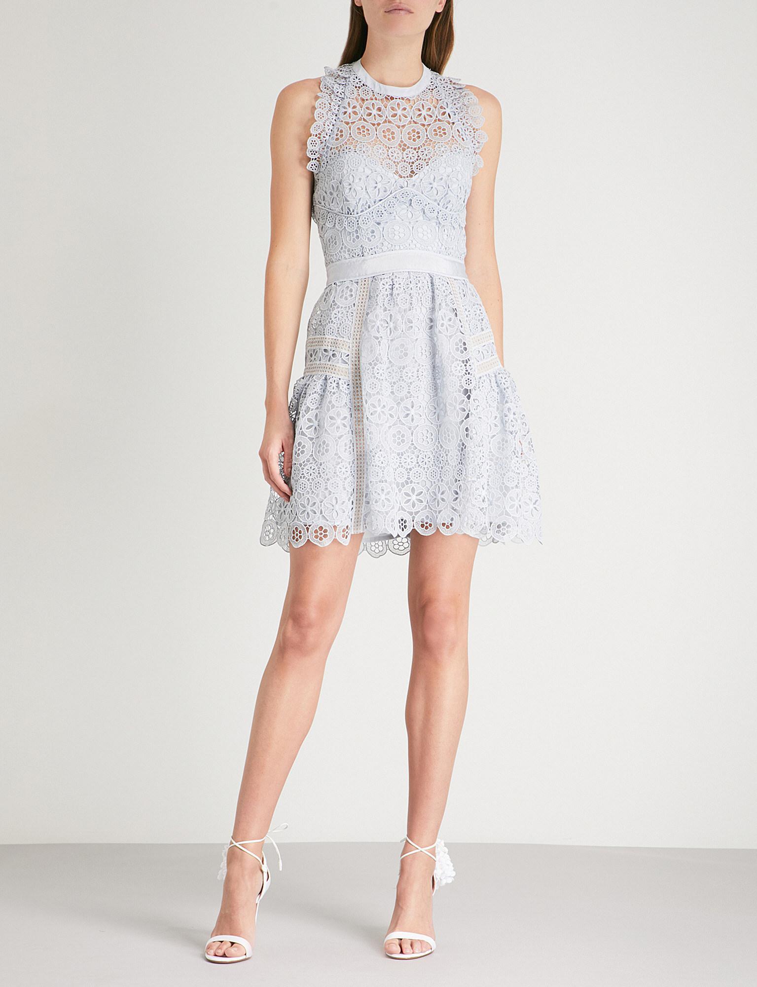 Circle Floral Lace Mini Dress