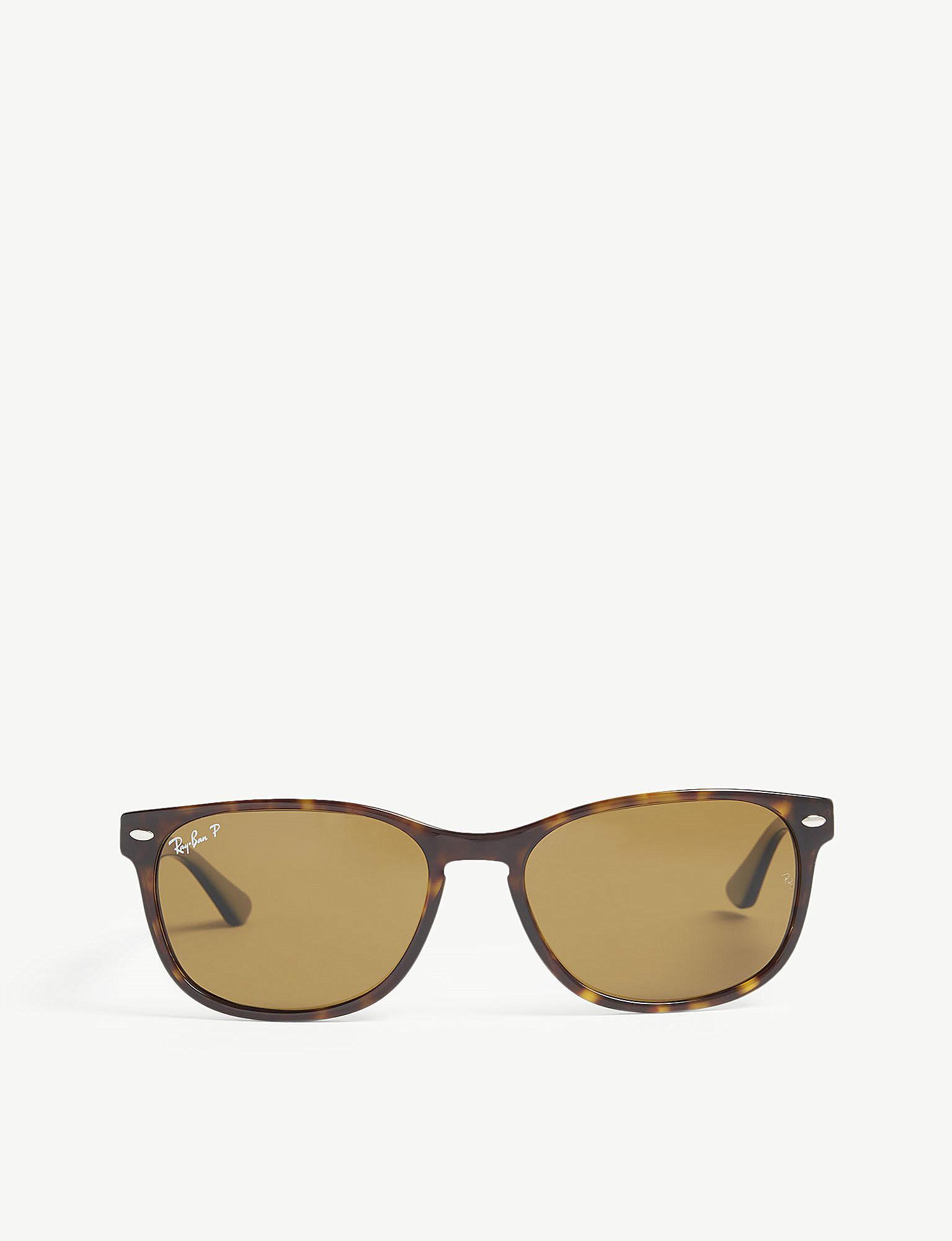6de94f9848 Ray-Ban. Women s Rb2184 Rectangle-frame Havana Sunglasses