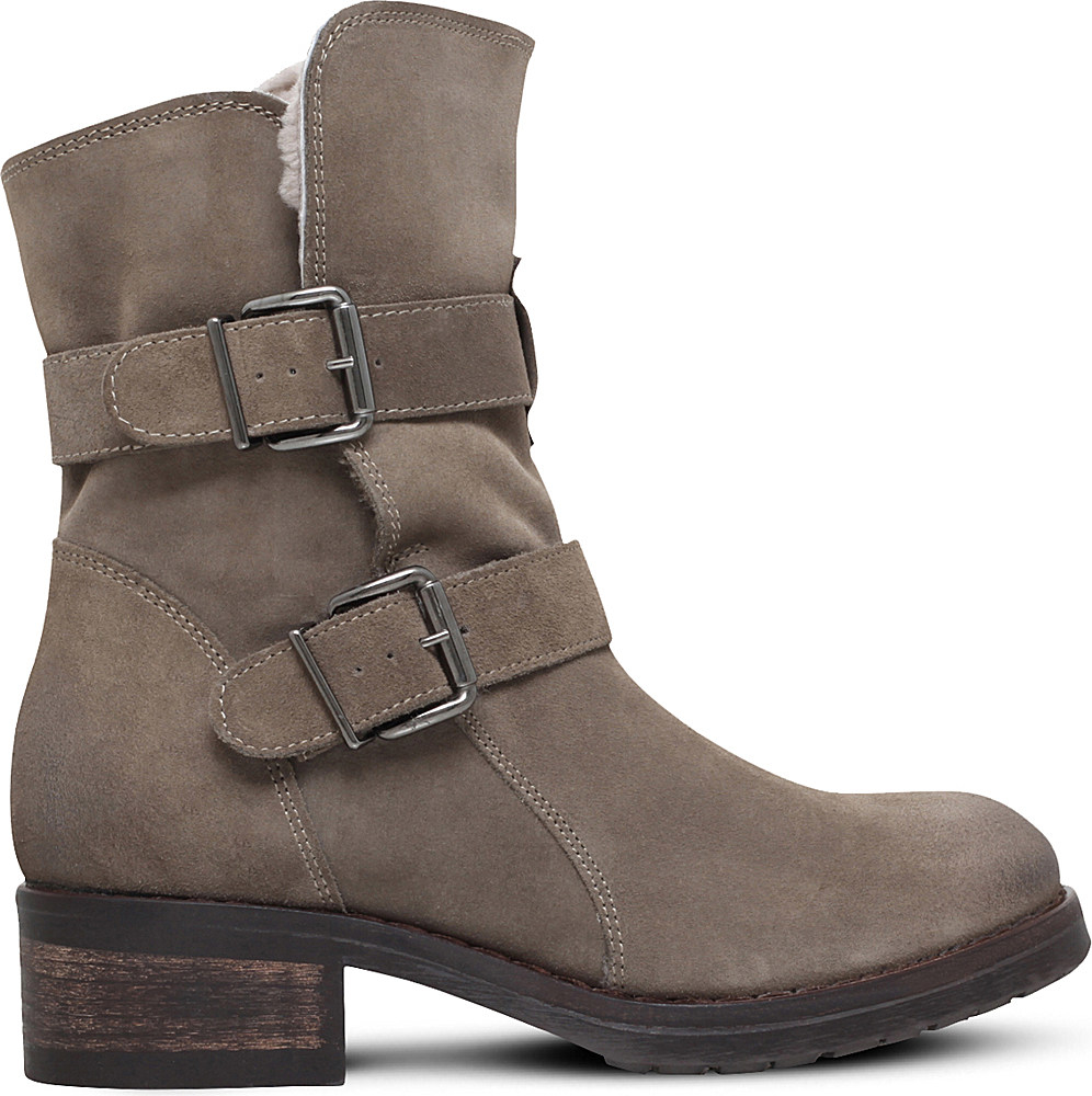 kurt geiger richmond suede ankle boots in brown lyst