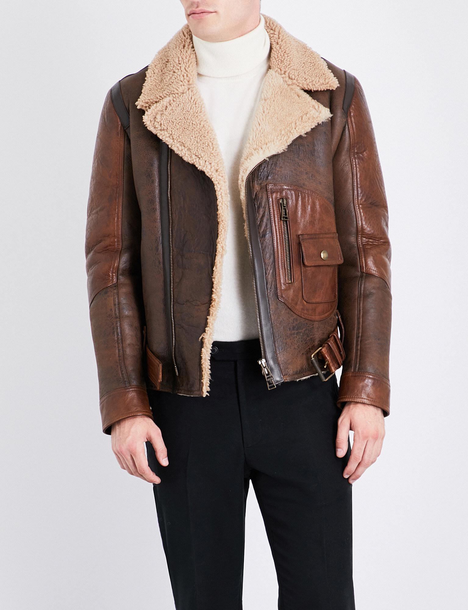 amazon outlet on sale online retailer Danescroft Shearling Leather Jacket