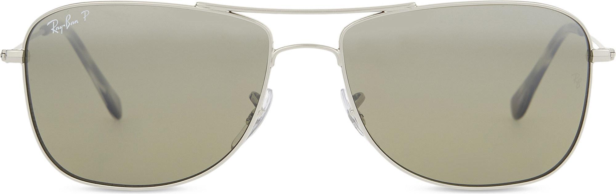 dfbe8ea8493 Ray-Ban Rb3543 Chromance Aviator Sunglasses in Metallic for Men - Lyst