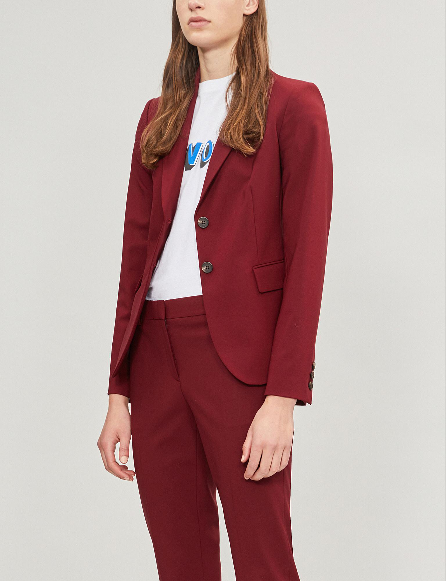 c9af0e33a722 Lyst - Theory Carissa Stretch-wool Jacket in Red