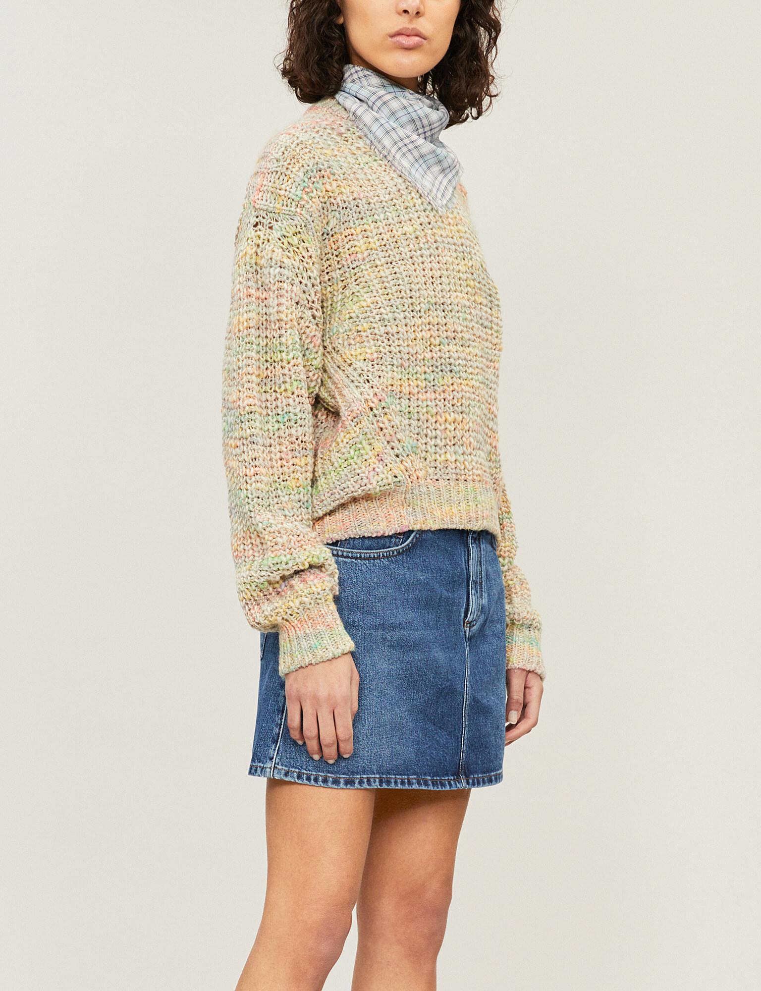 ab83ded8fd Acne Studios Caitlyn A-line Denim Skirt in Blue - Lyst