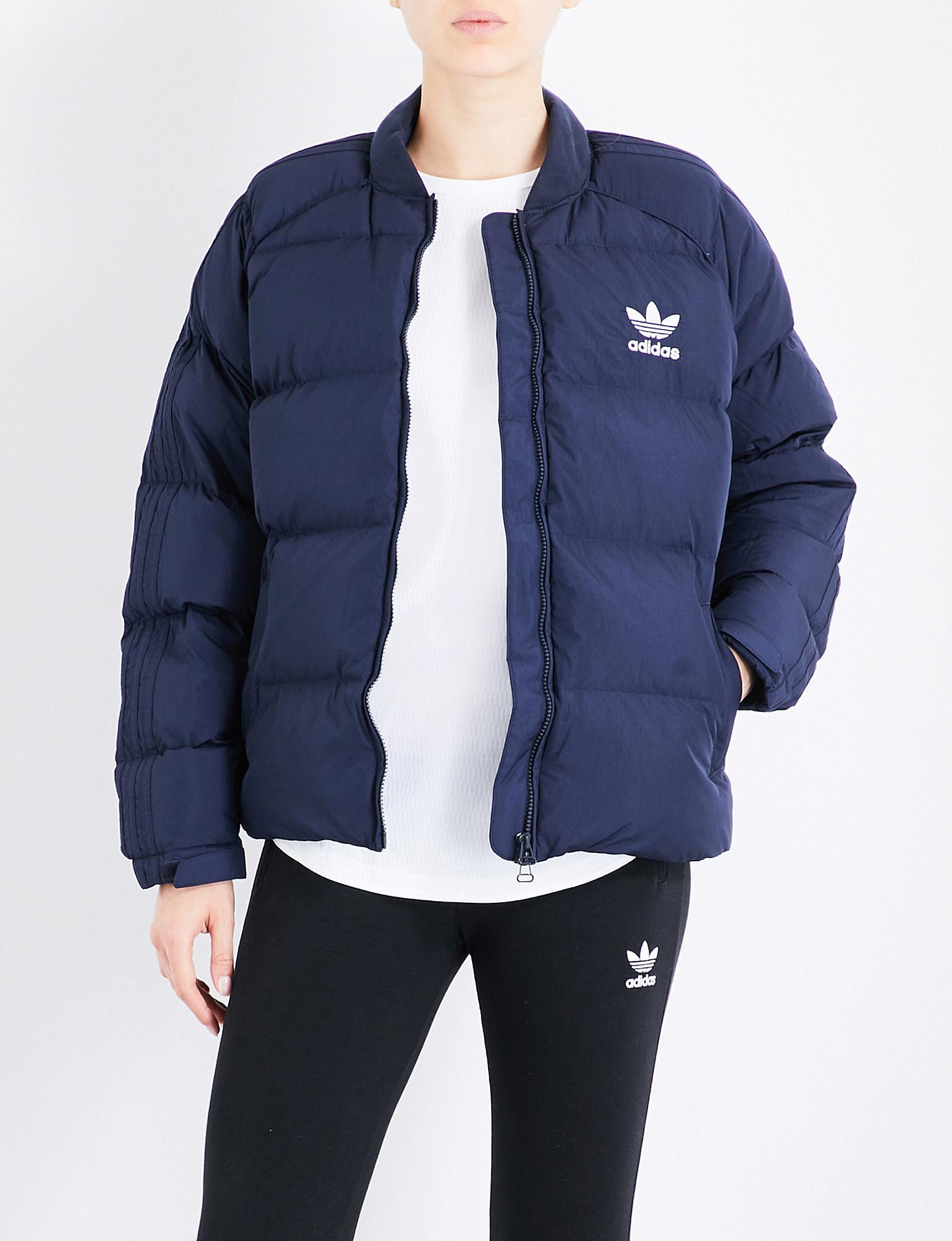 a1157dc12 Adidas Originals Blue Sst Shell-down Puffer Jacket