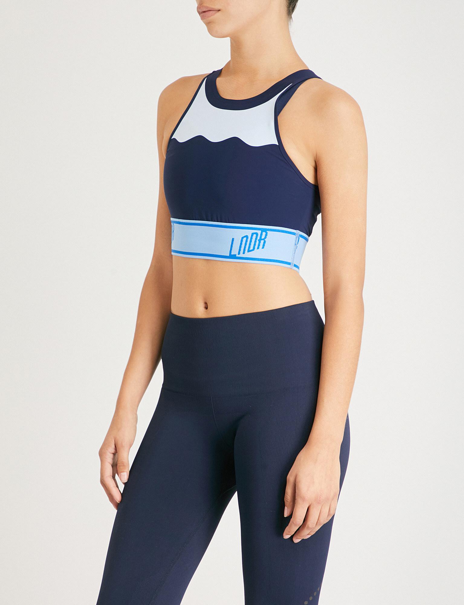 7dce74ec0b1b0 Lndr Swell Stretch-jersey Sports Bra in Blue - Lyst