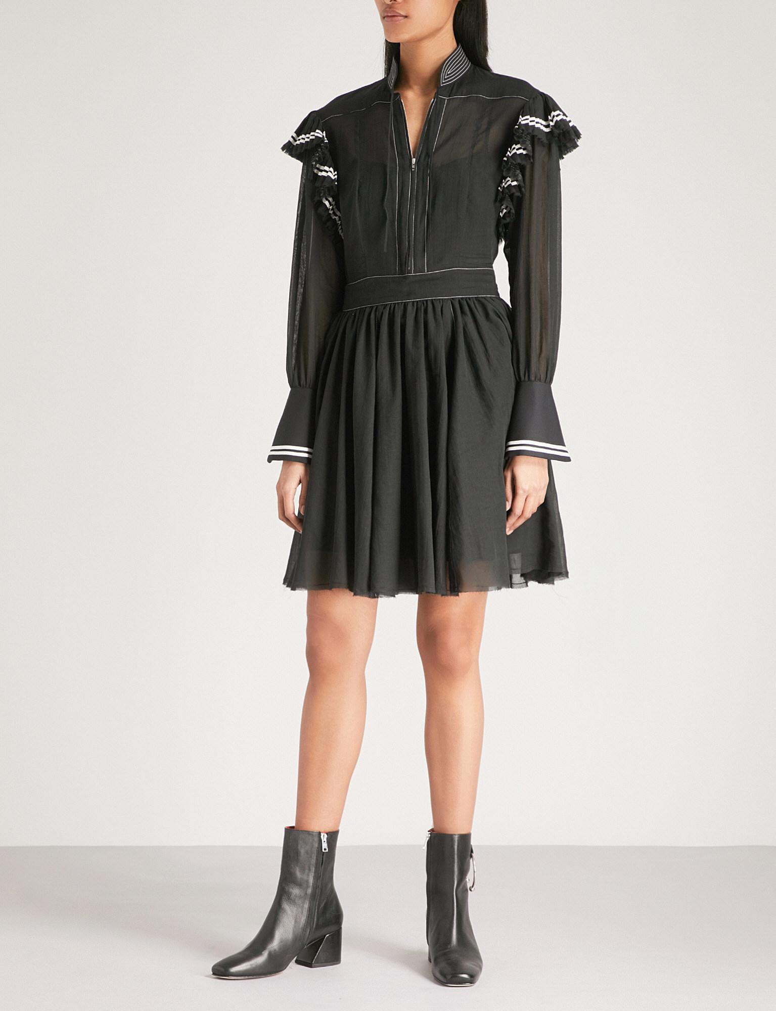 Frilled mini cotton dress Philosophy di Lorenzo Serafini 5Y501N7pZ