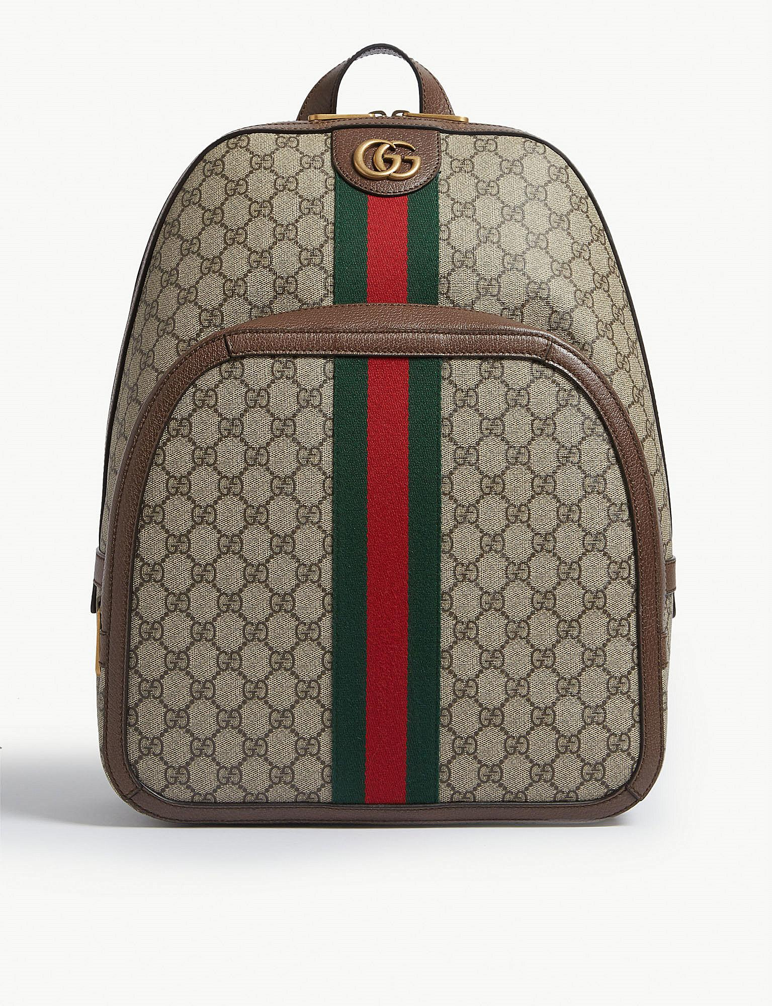 8c1e69f64cac Lyst - Gucci Beige Medium GG Ophidia Backpack in Natural for Men ...
