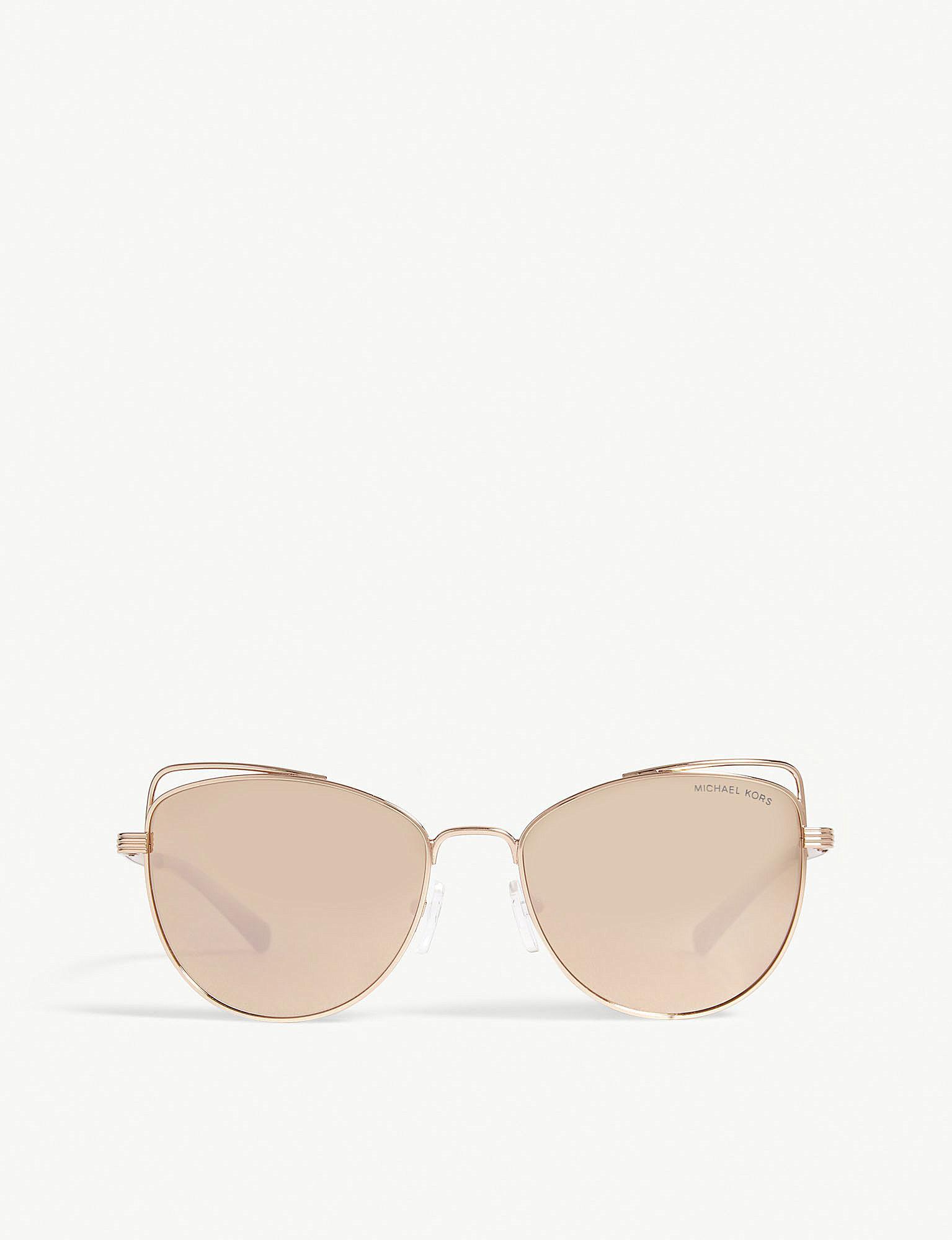 55fe97125244f Michael Kors Rose Gold St. Lucia Cat s Eye Sunglasses Mk1035 in Pink ...