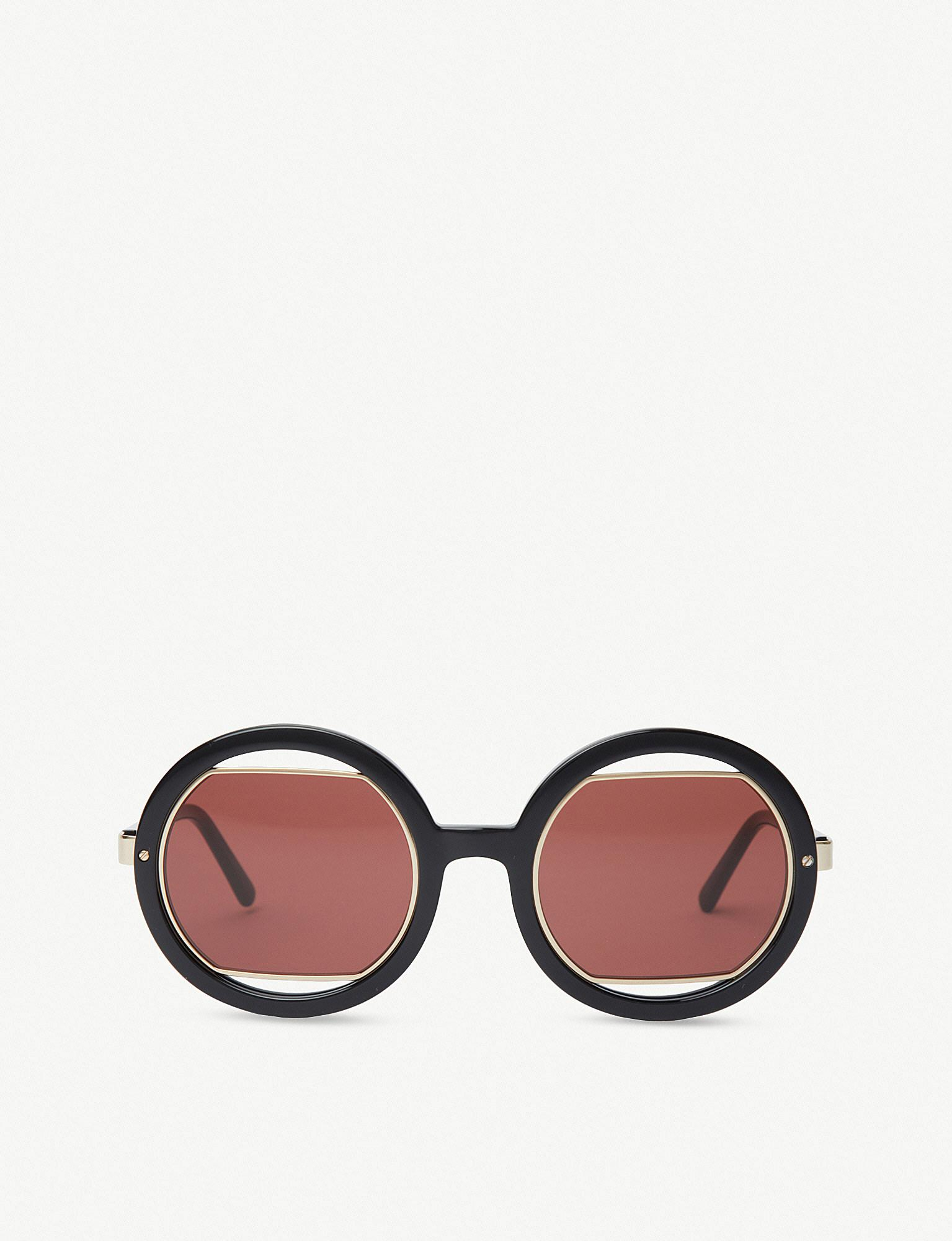 203d1beec03 Lyst - Marni Me623s Round-frame Acetate Sunglasses in Black