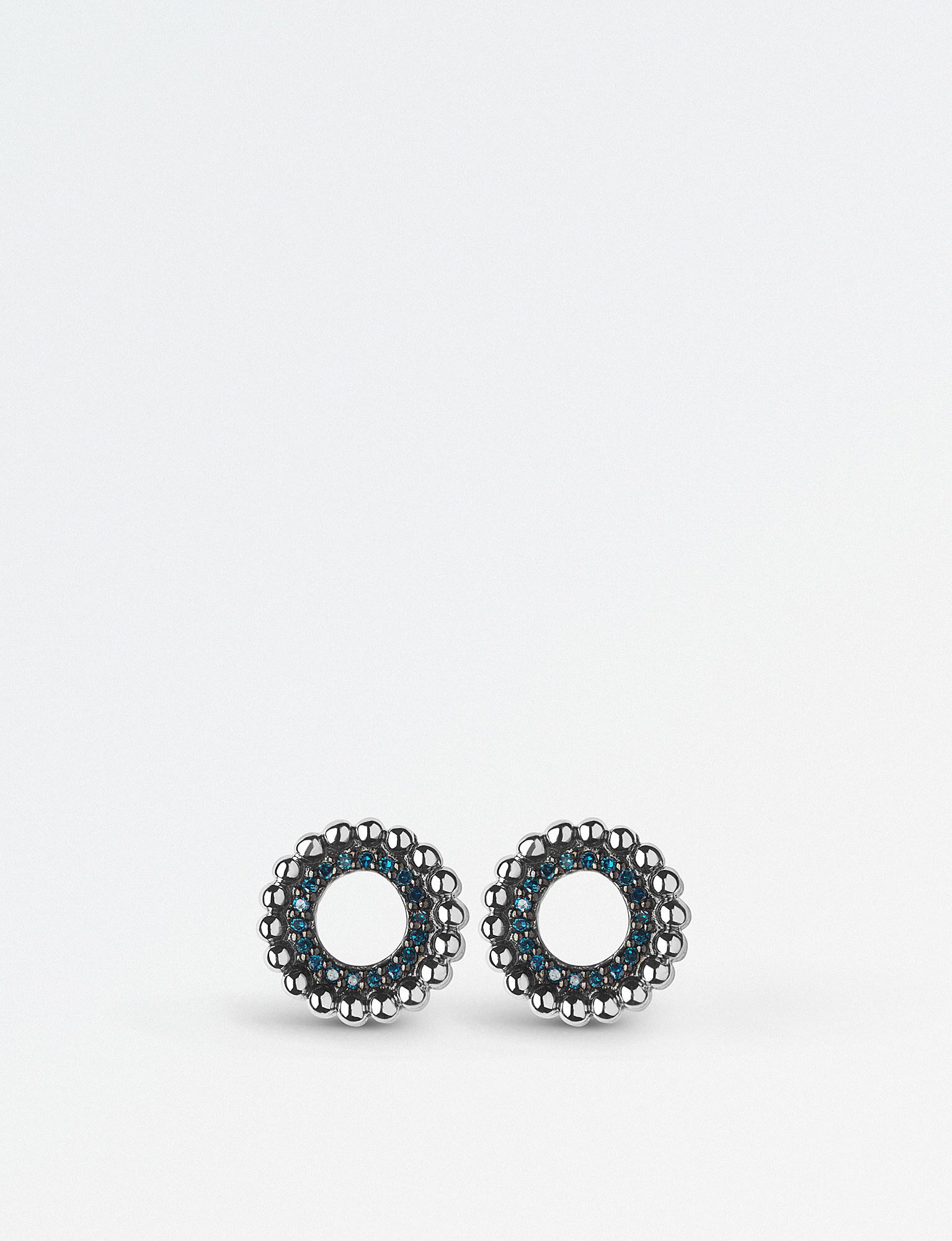 412f34bfbb7e20 Links of London Effervescence Sterling Silver And Blue Diamond Stud ...